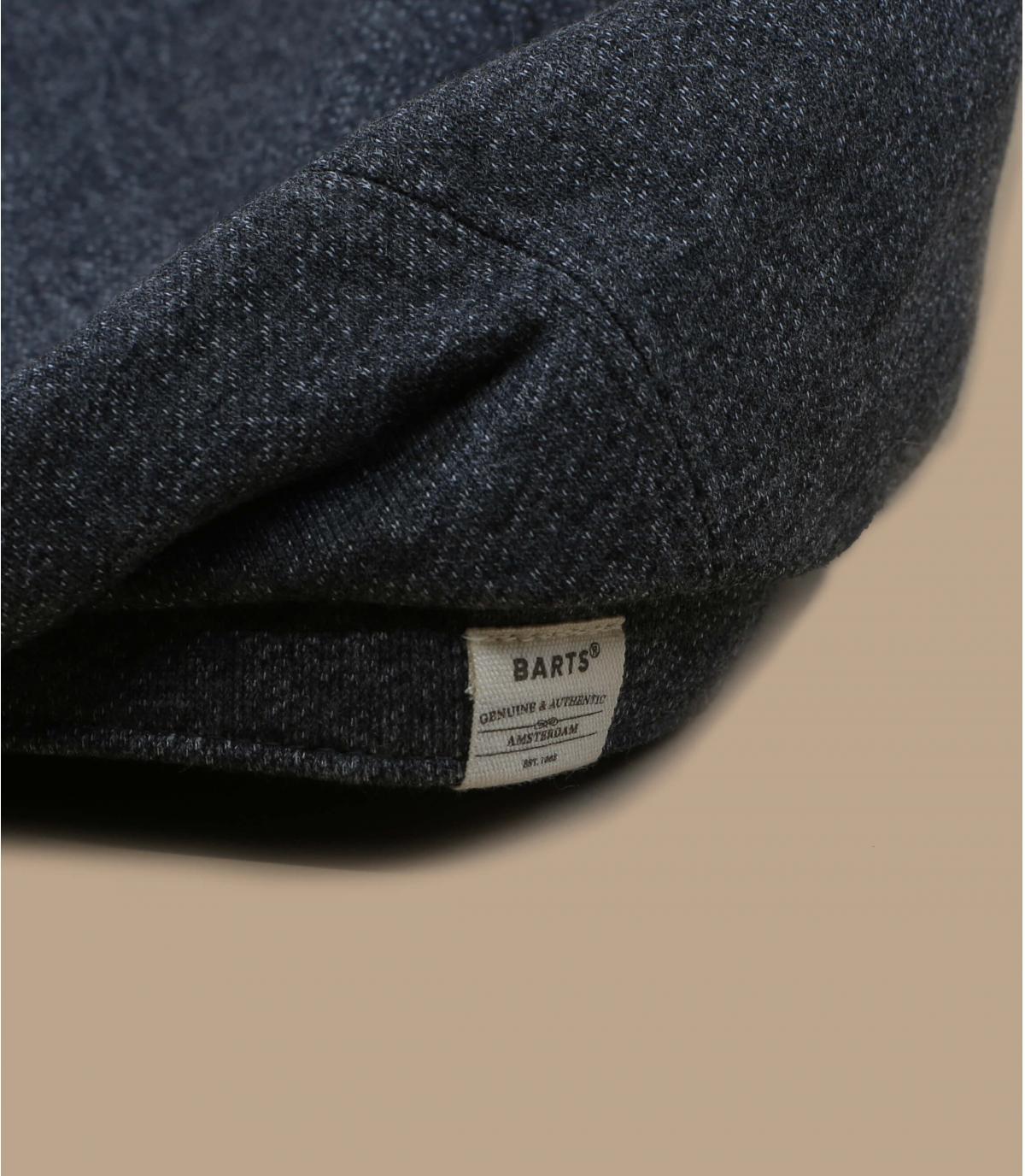Flatcap grau Baumwolle Leinen