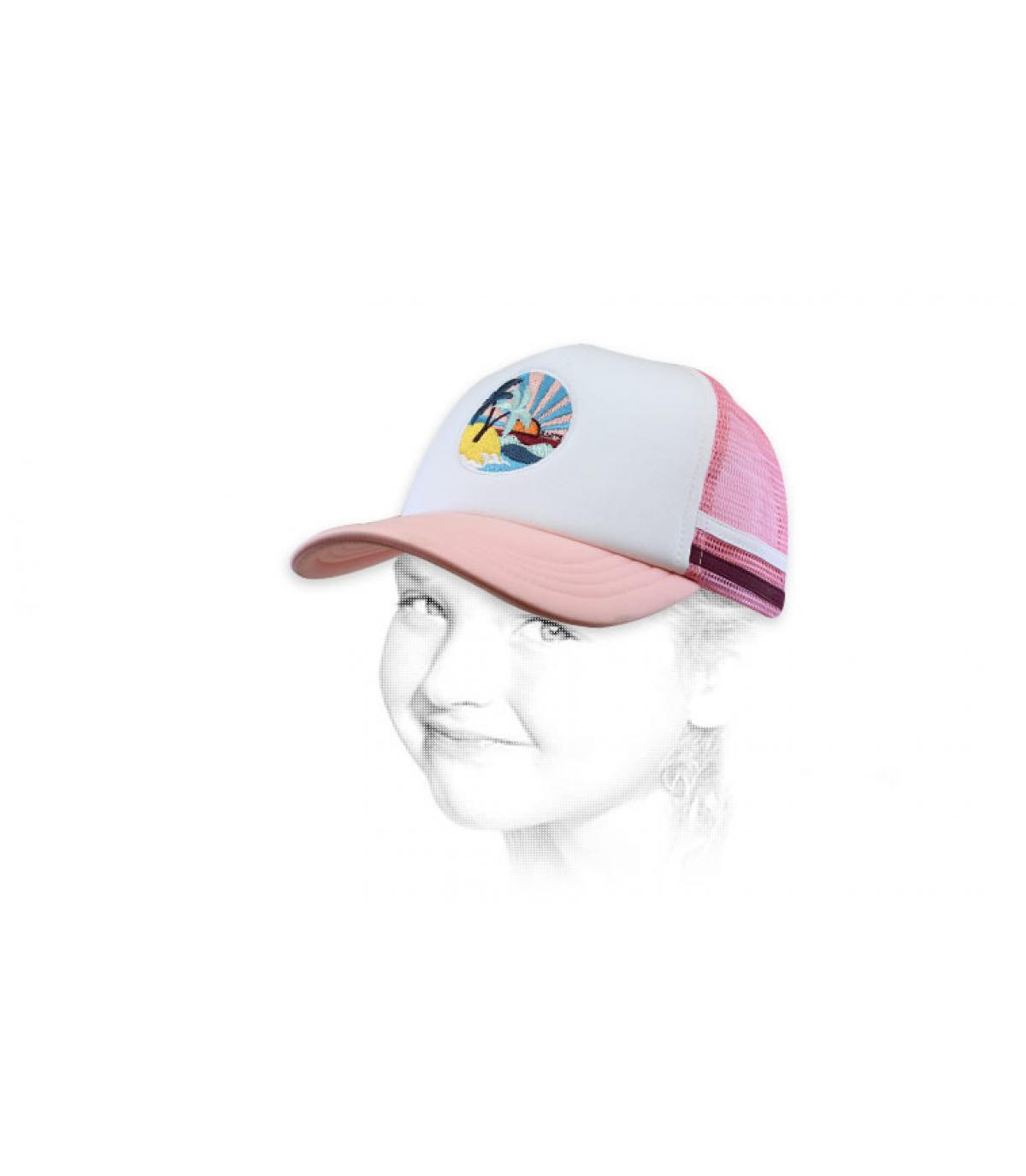 Kinder Trucker Cap rosa Palme