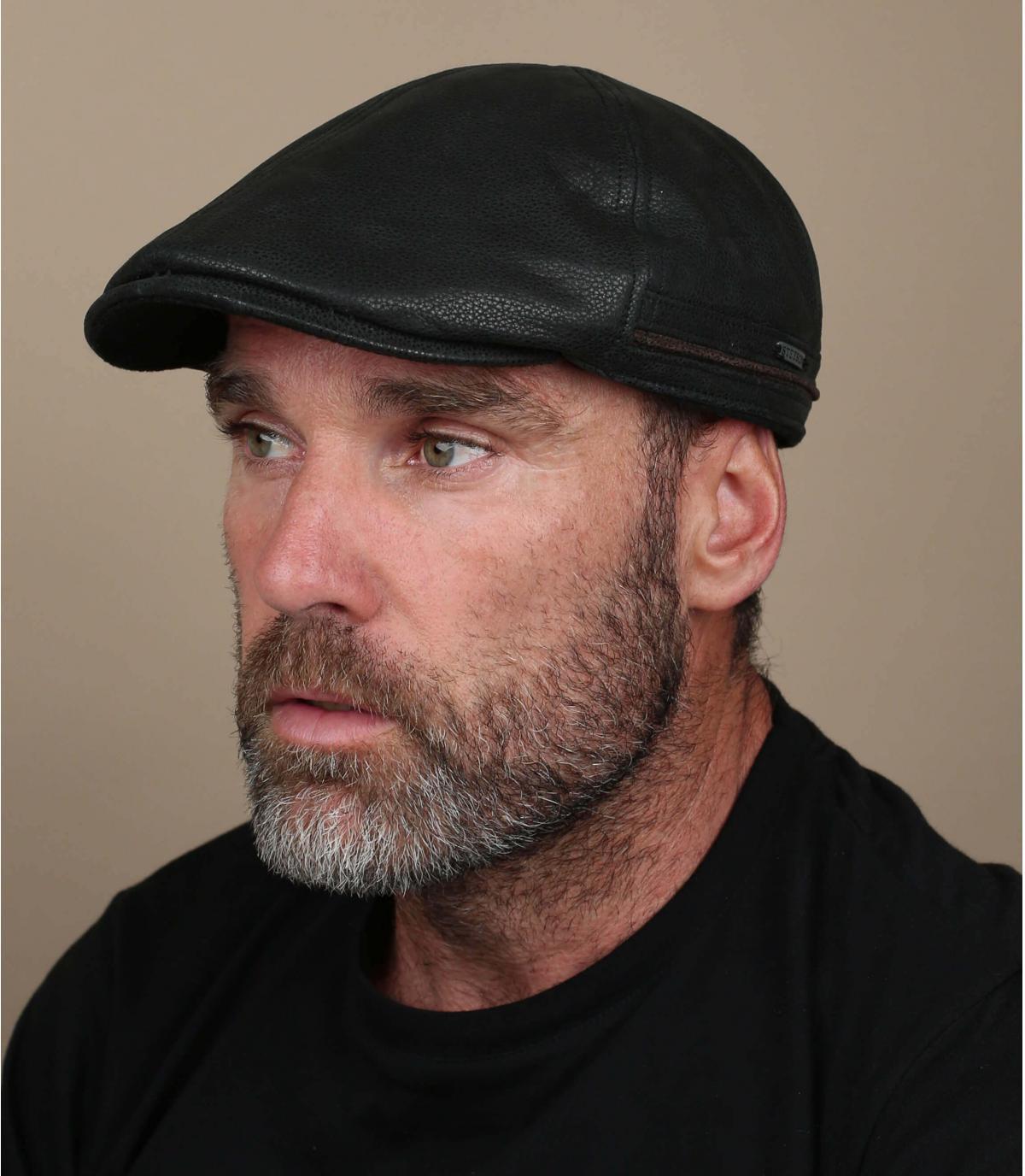 Flache Cap Stetson schwarz