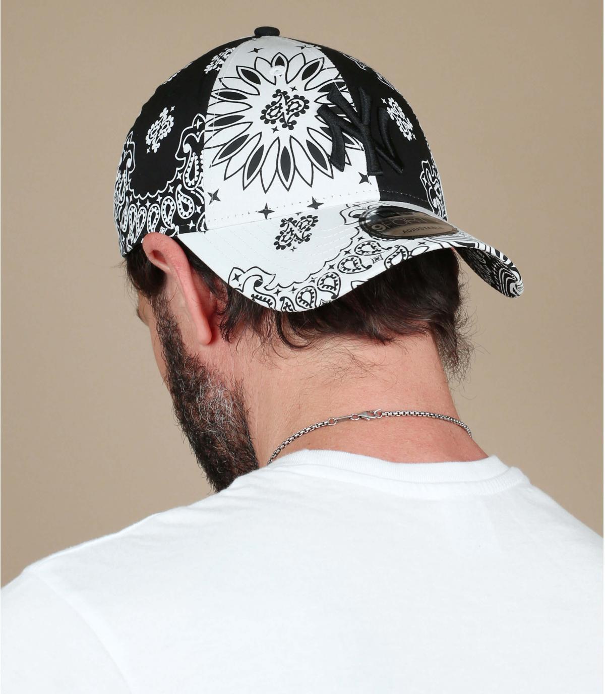 Cap NY Bandana schwarz weiß