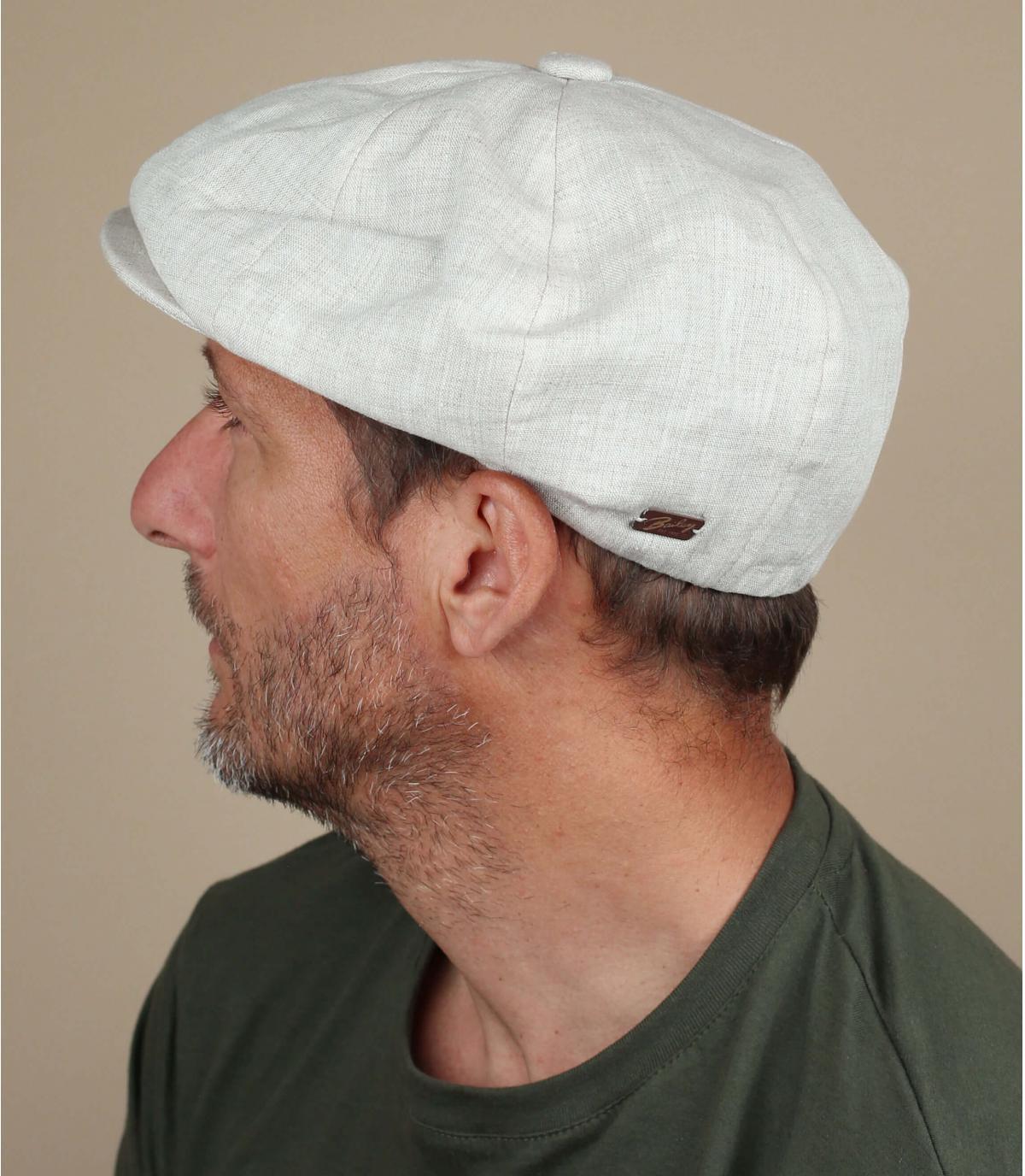 Newsboy Cap Leinen beige
