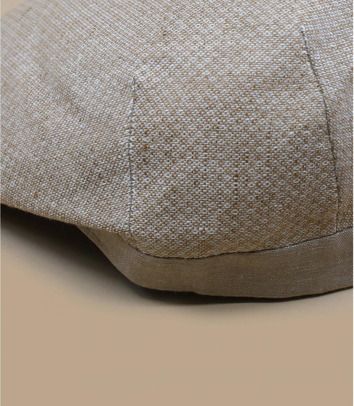 Flatcap beige Leinen Baumwolle