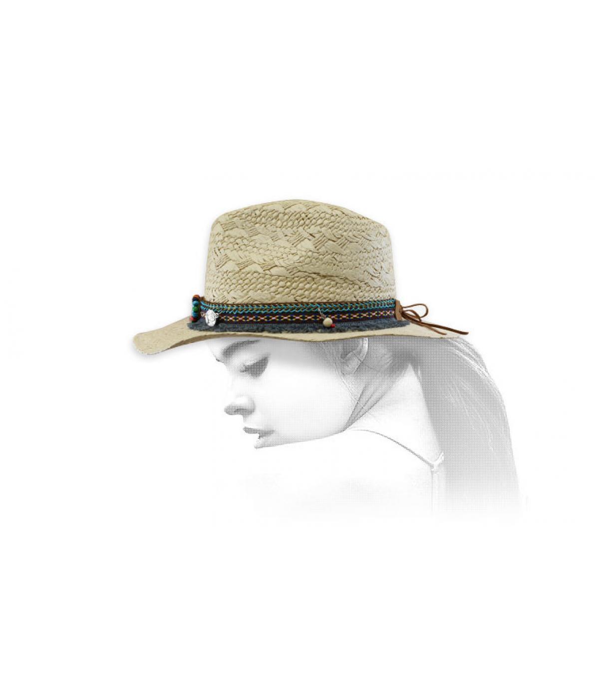 Cowboy Damen Strohhut
