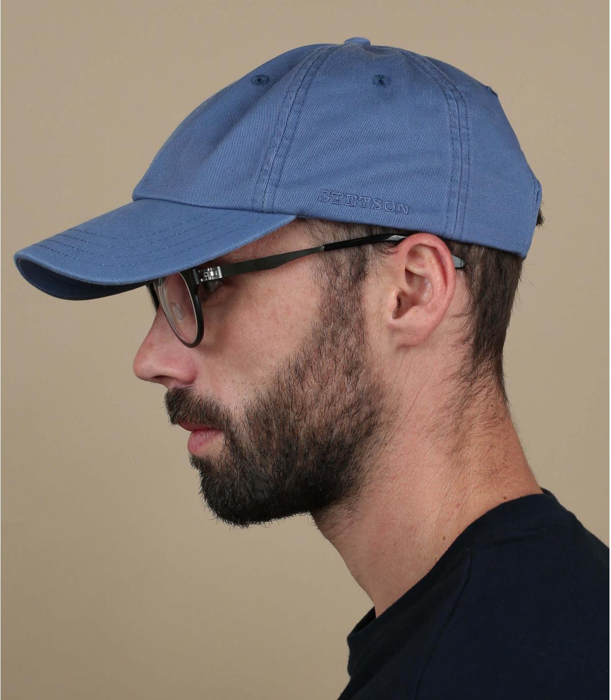 baseball cap stetson blau