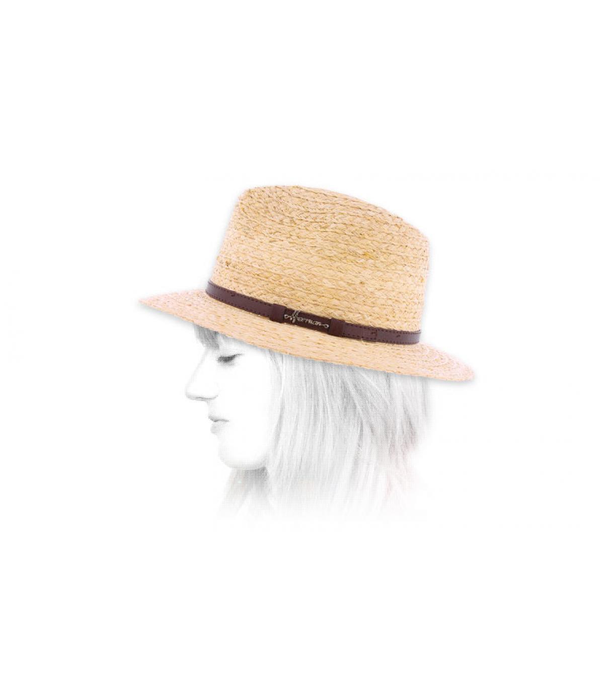 Damen Strohhut breite Krempe