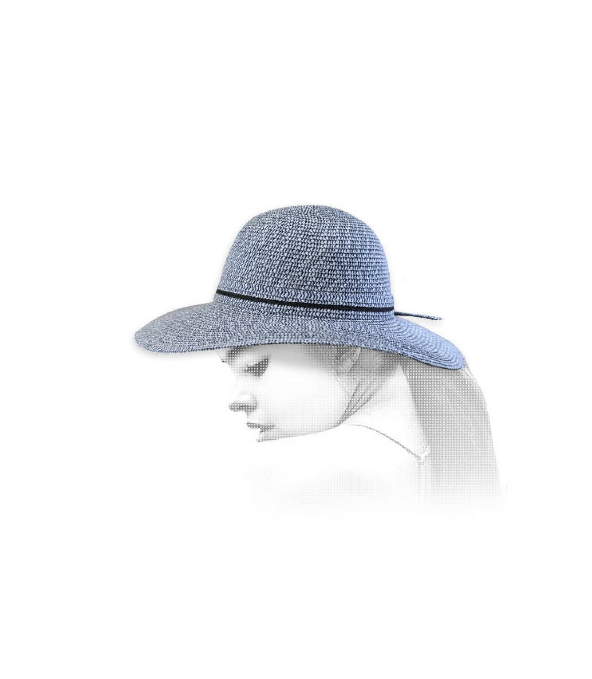 Capeline Strohhut blau