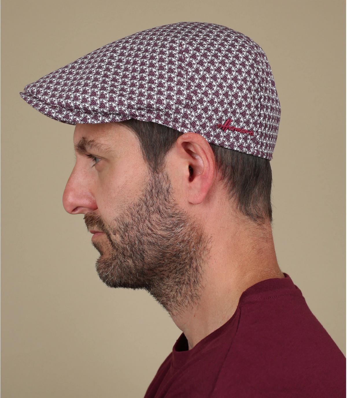 Flatcap Baumwolle bordeaux
