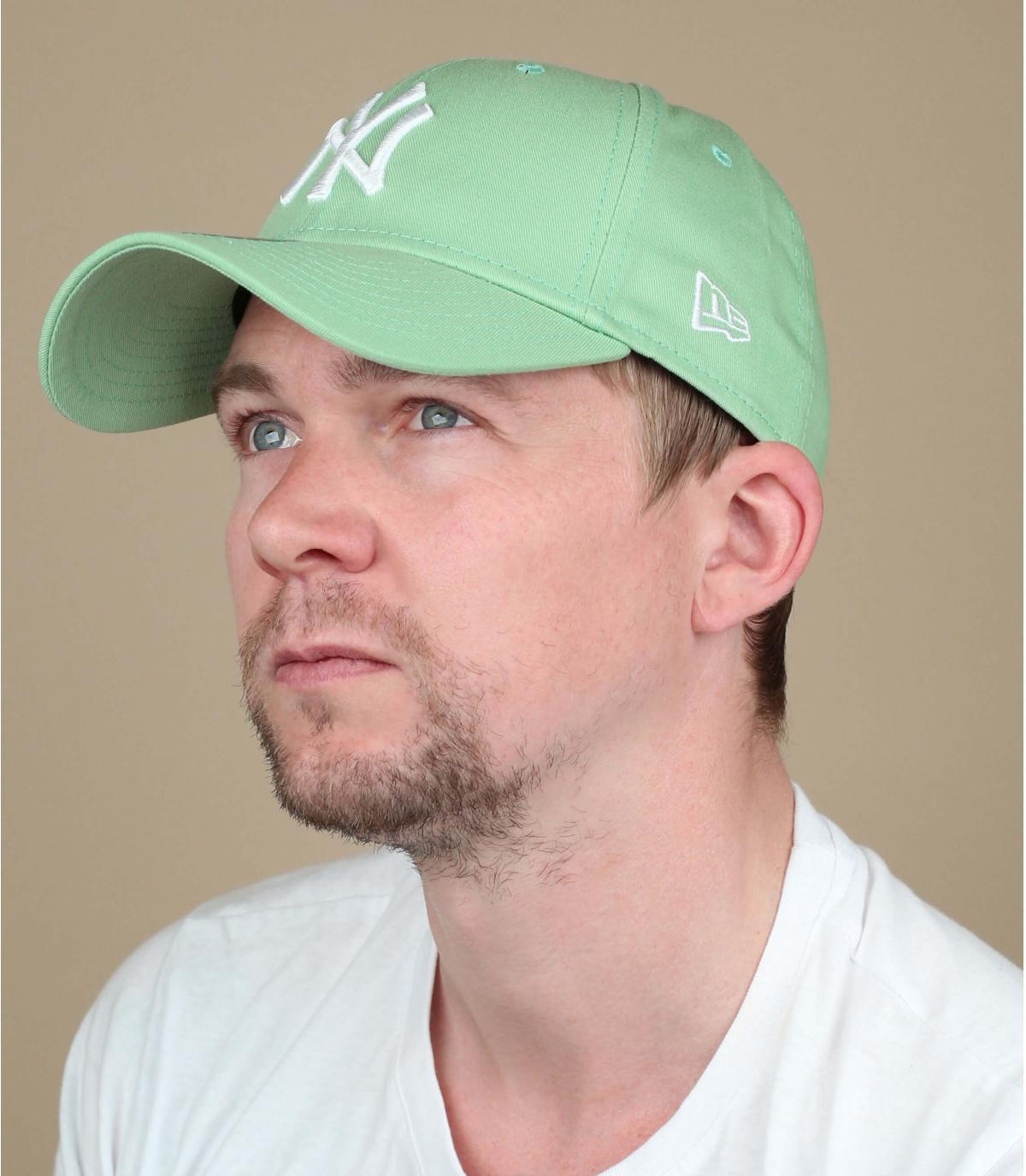 Cap NY grün weiß