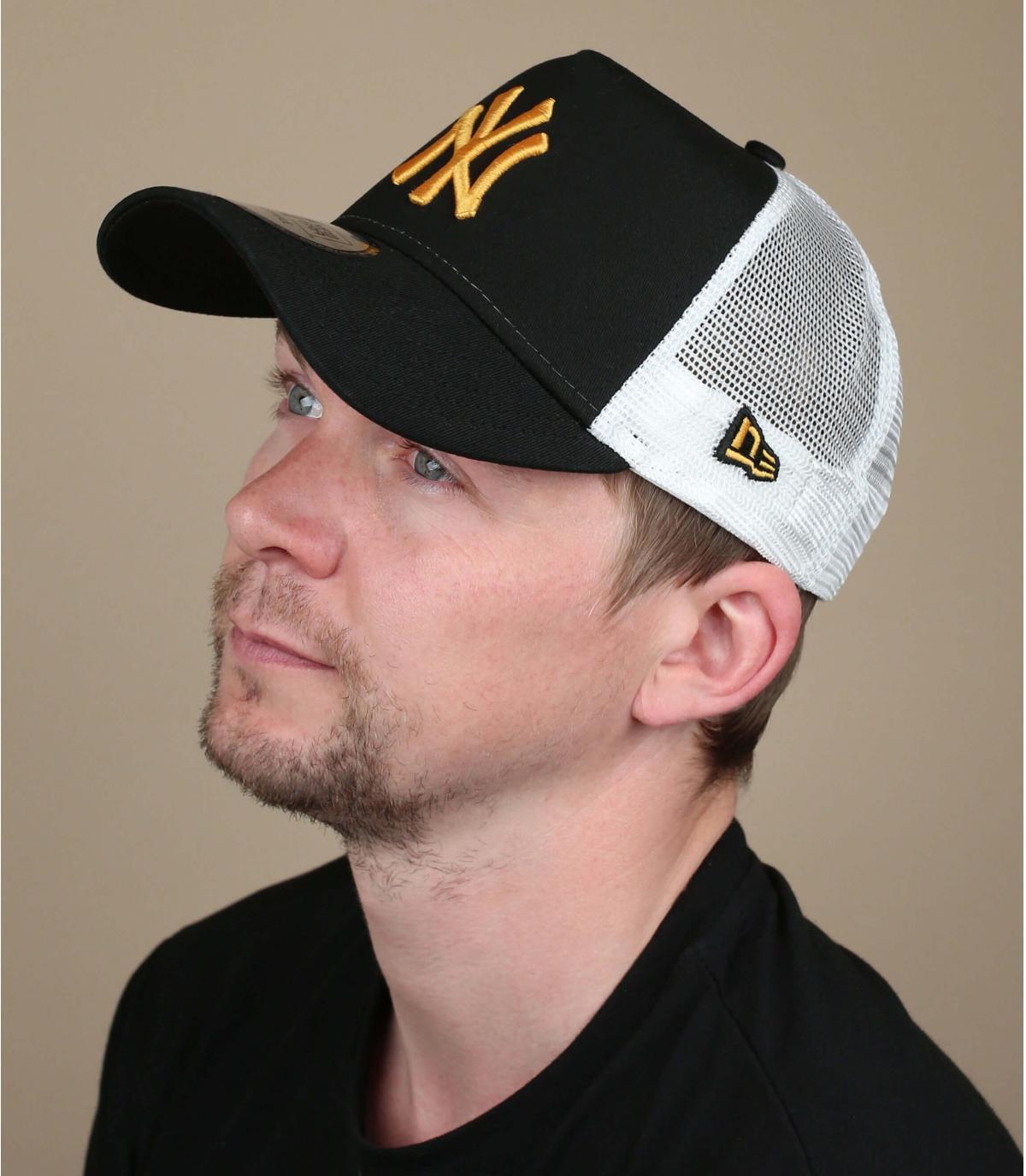 Trucker NY schwarz gelb