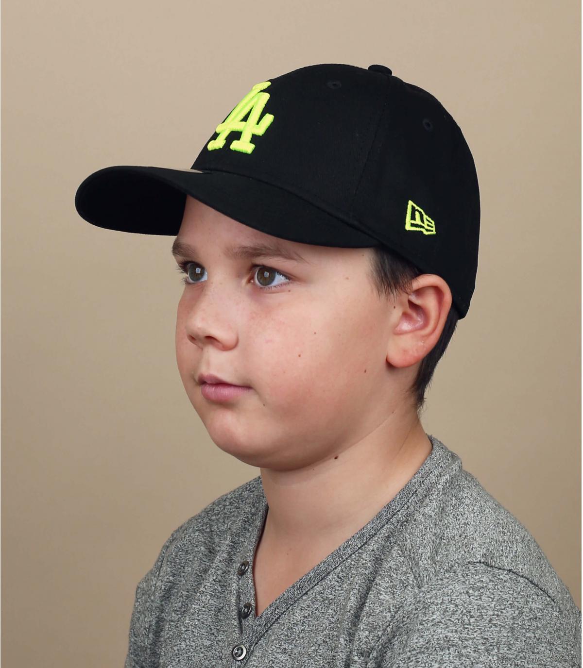 casquette enfant LA schwarz gelb