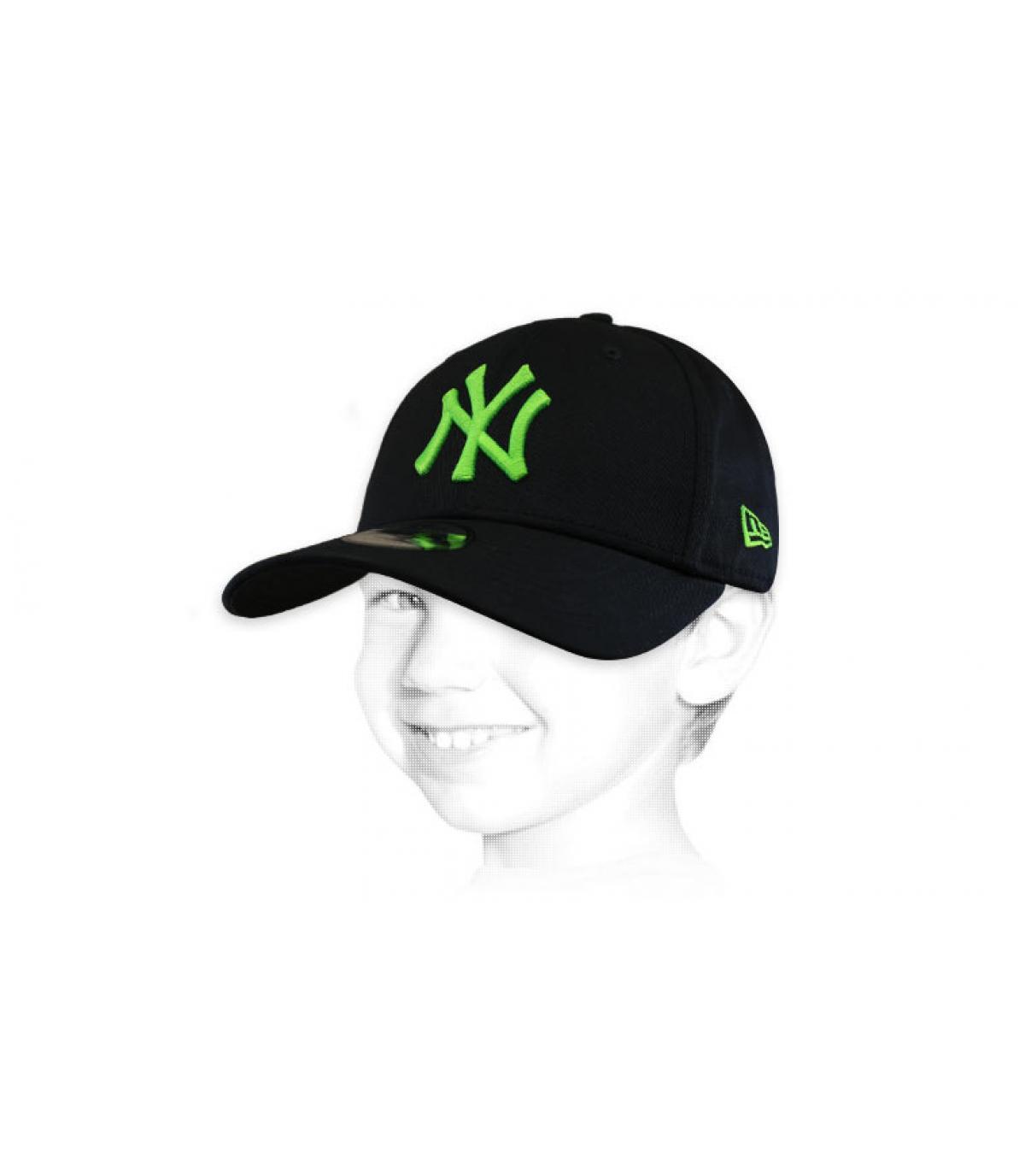 Kinder Cap NY schwarz grün