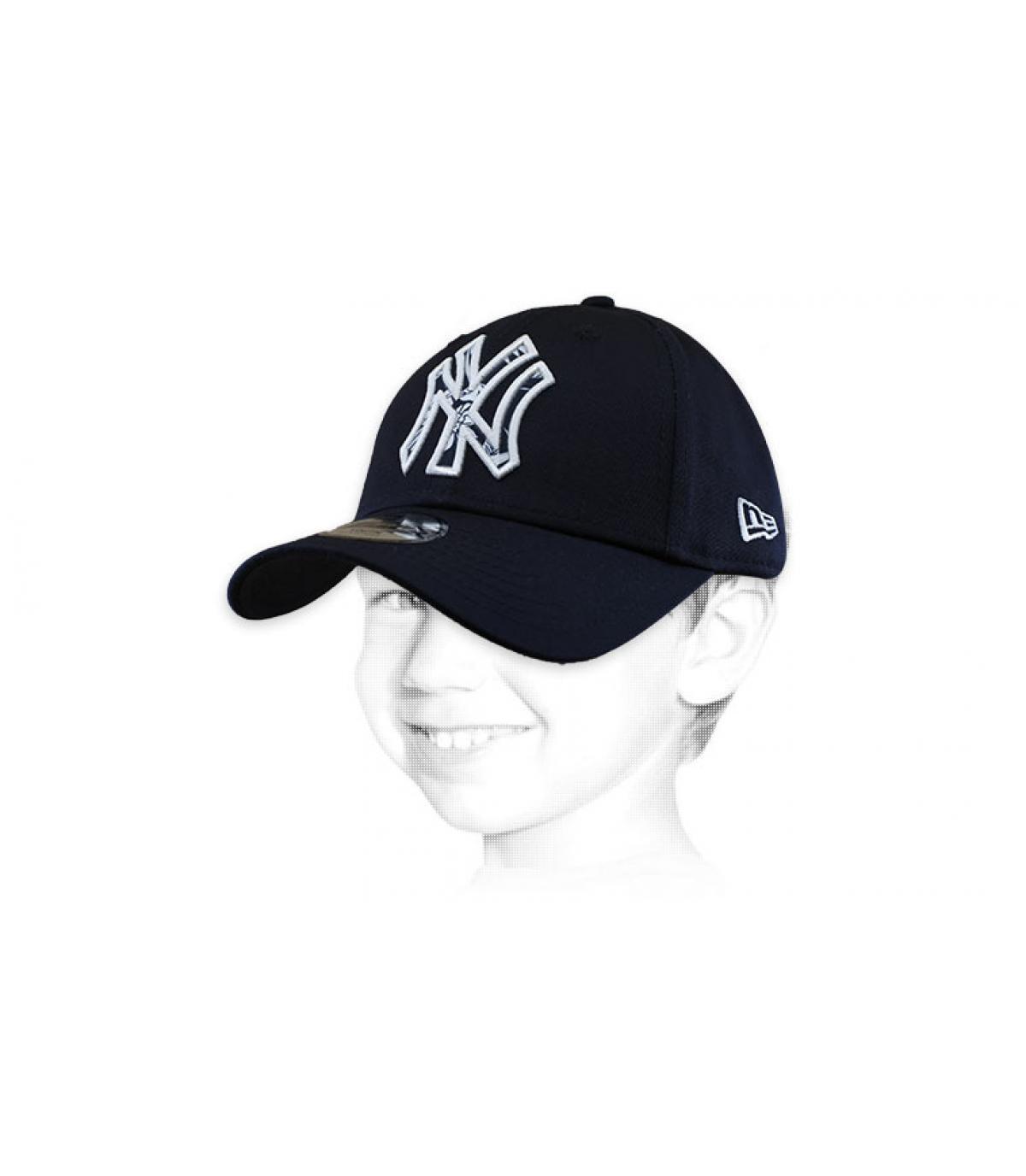 Cap NY blau