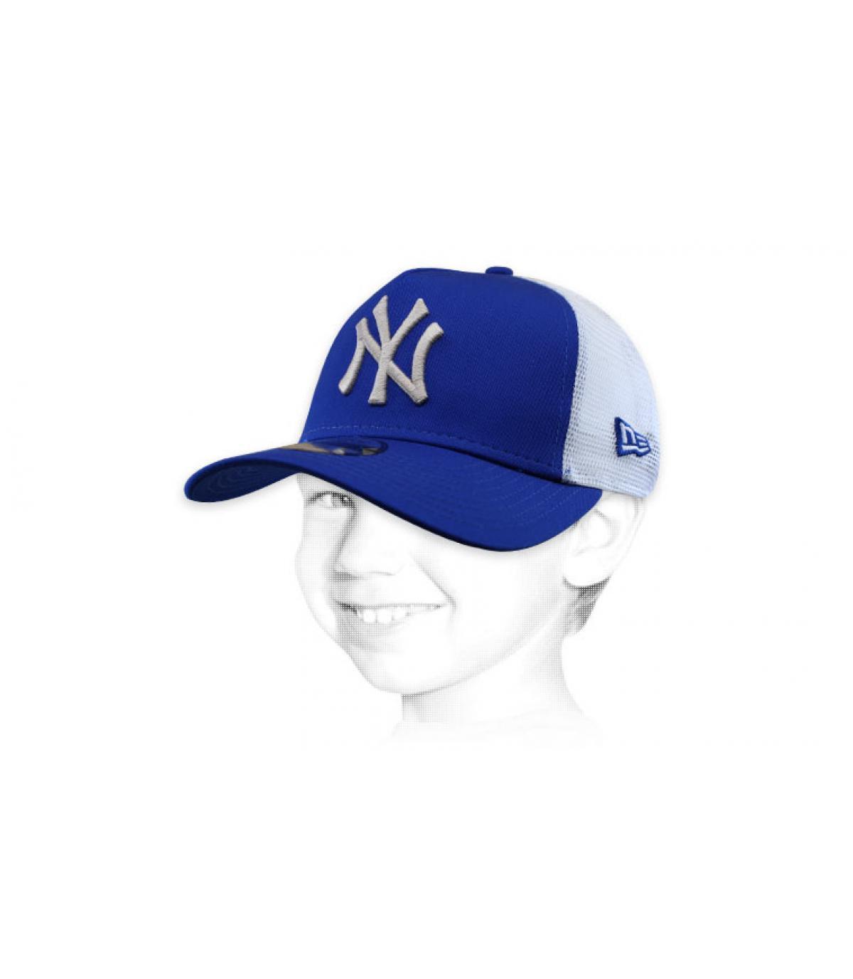 Trucker Cap NY blau