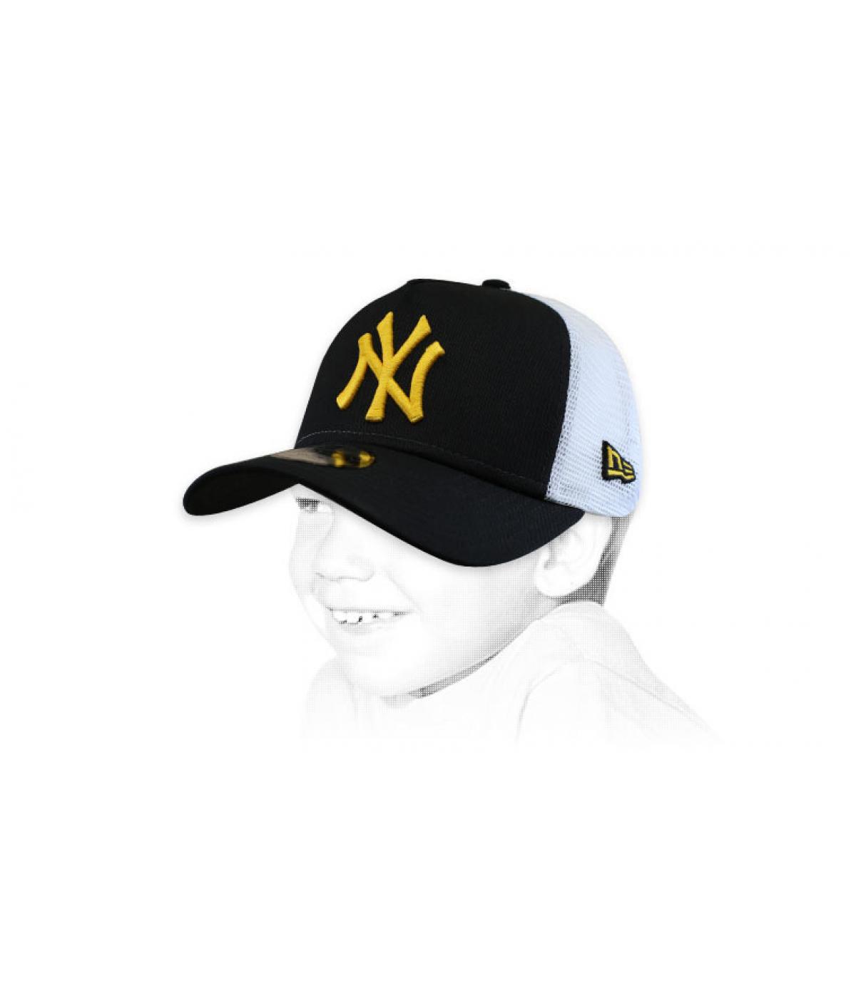 Kinder Trucker NY schwarz gelb
