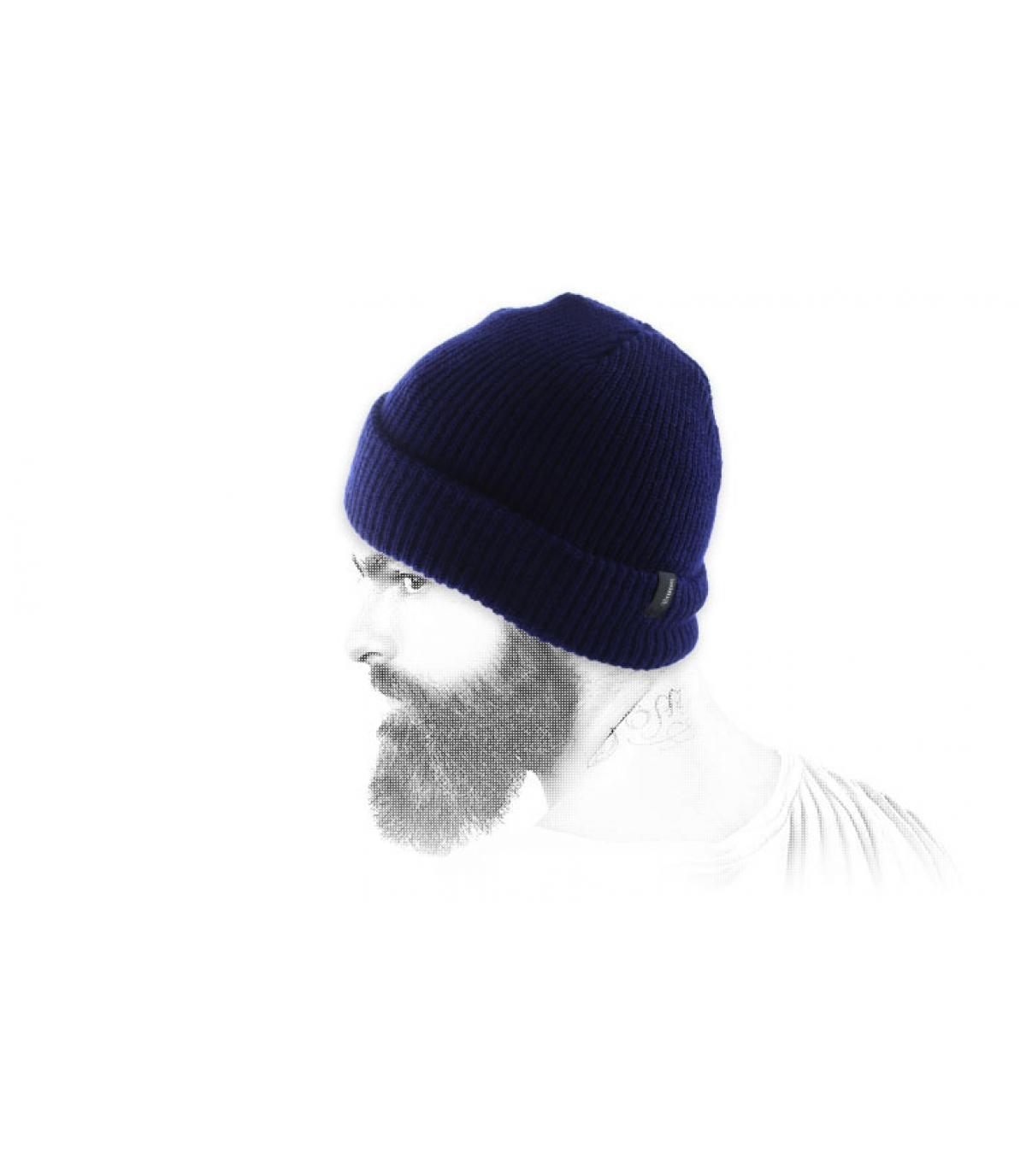 Marineblaue Brixton Mütze