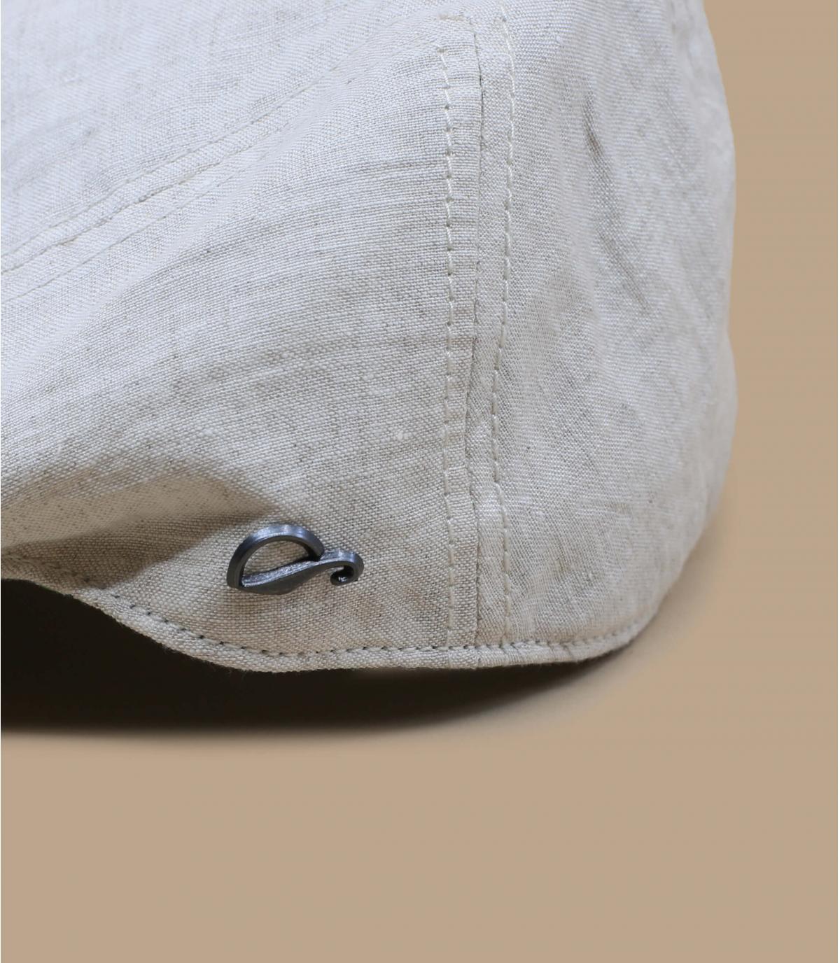beige Flatcap Leinen