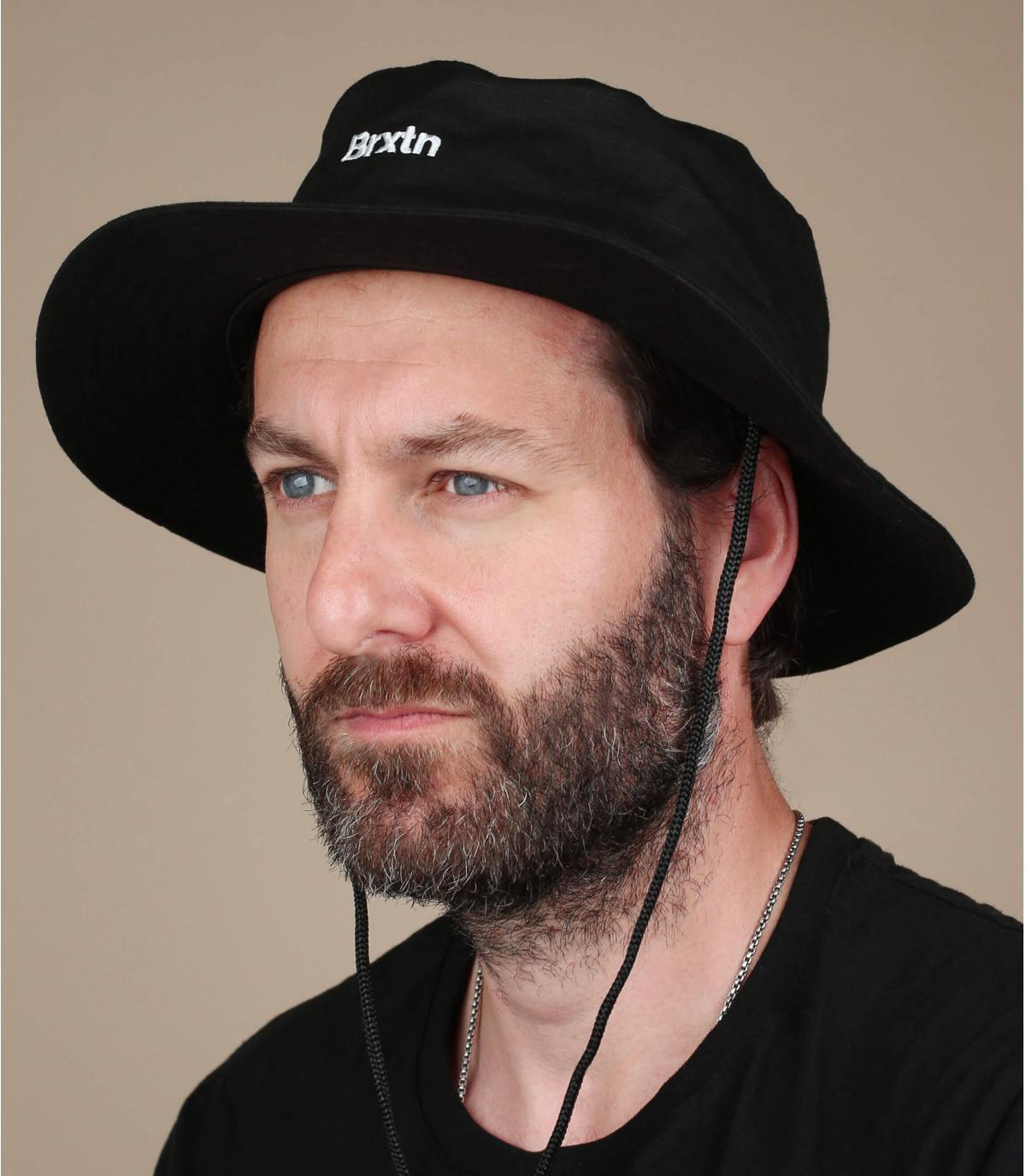 Fischerhut Brixton schwarz Bucket Hat