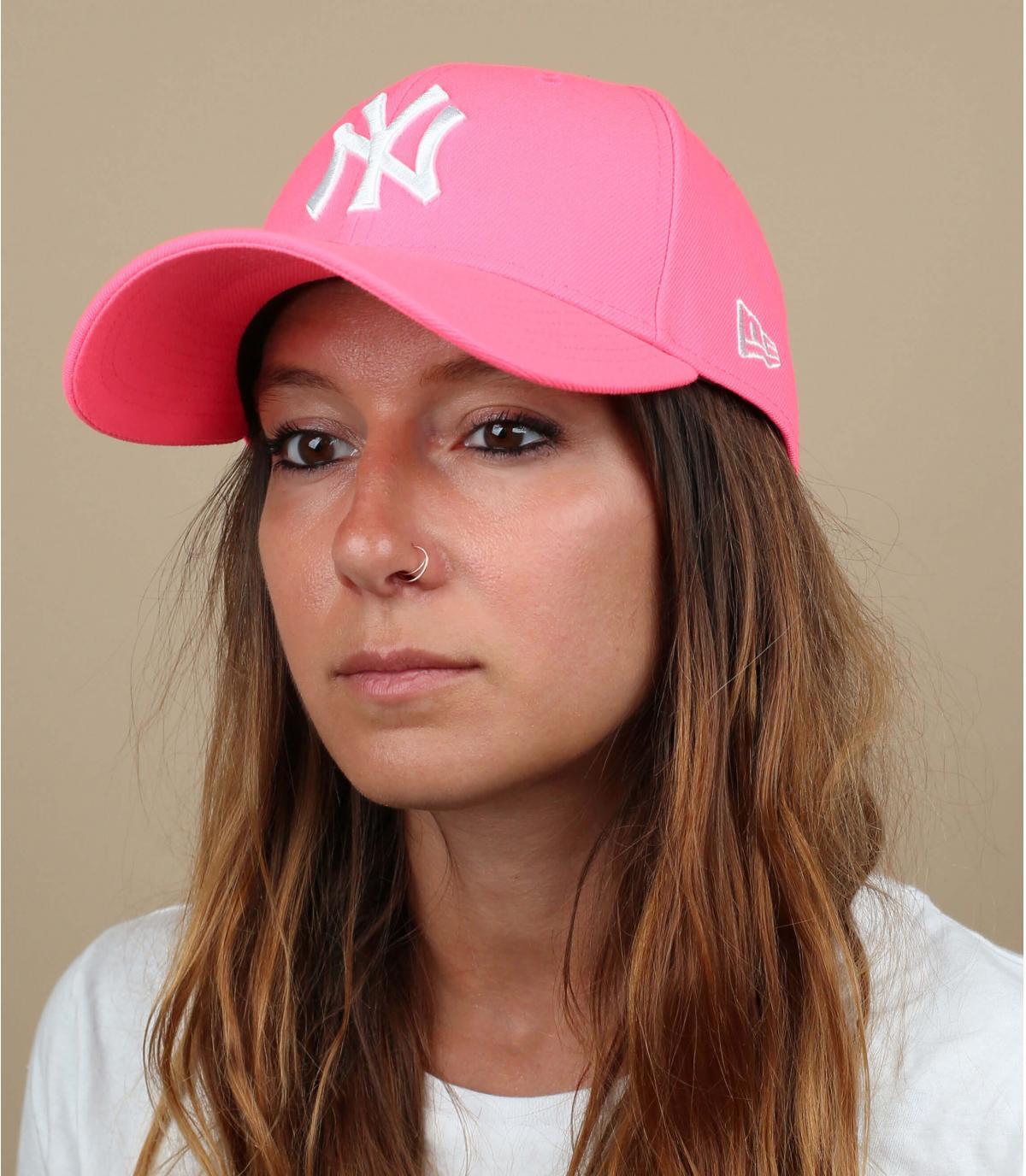 Cap NY neon rosa