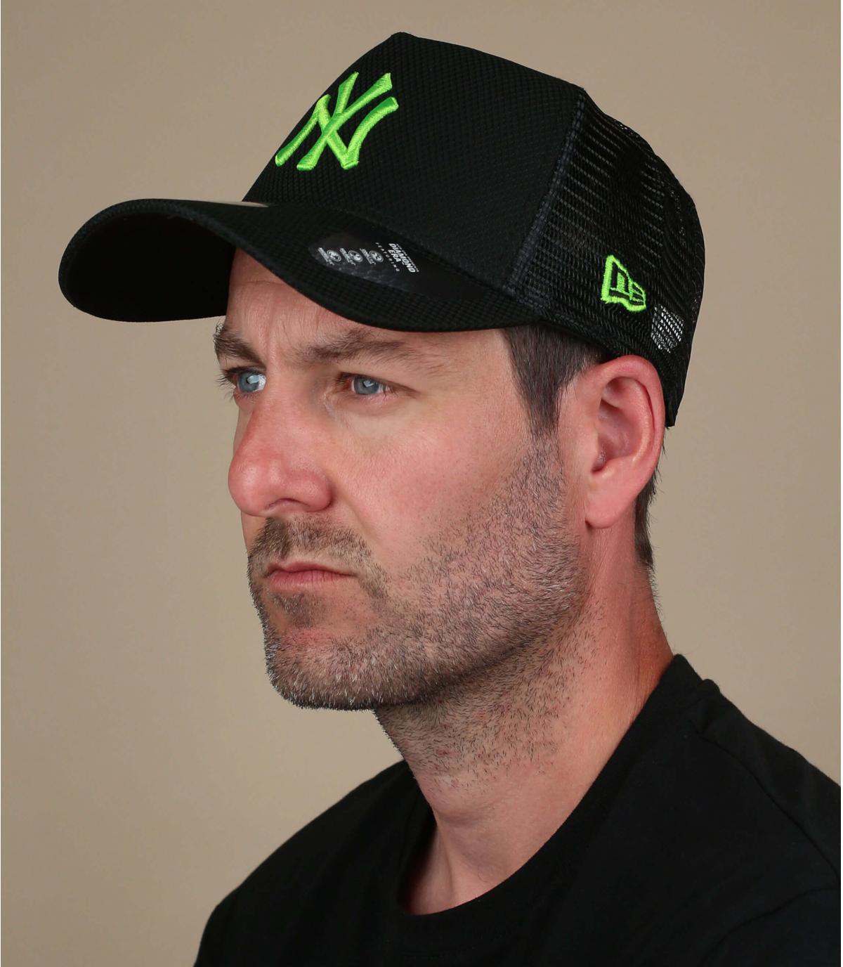 Trucker Cap NY schwarz grün