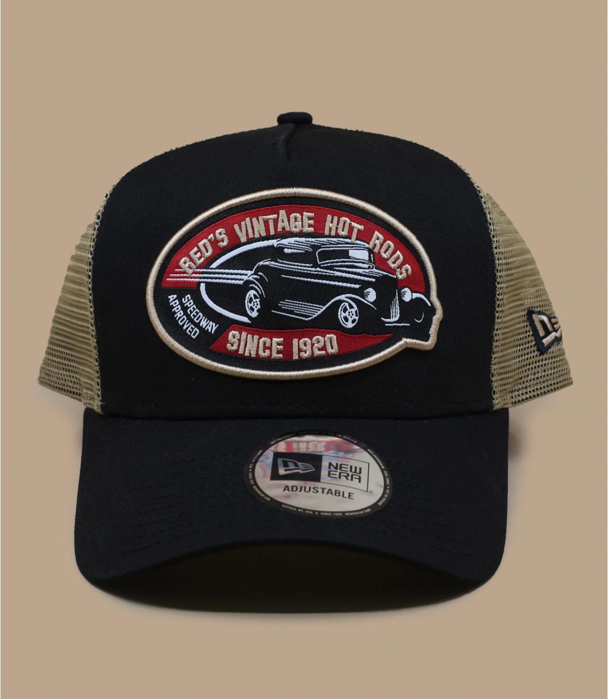 Trucker Cap Auto schwarz
