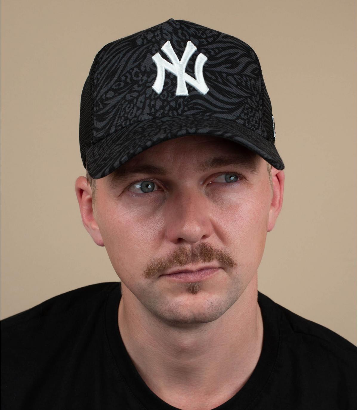 Trucker Cap NY schwarz