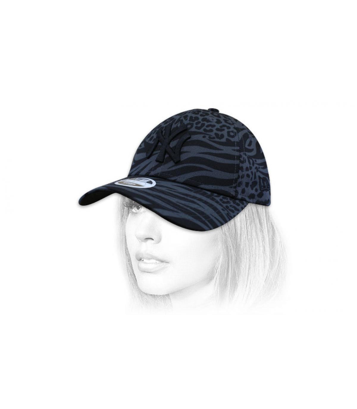 Damen Cap NY bedruckt
