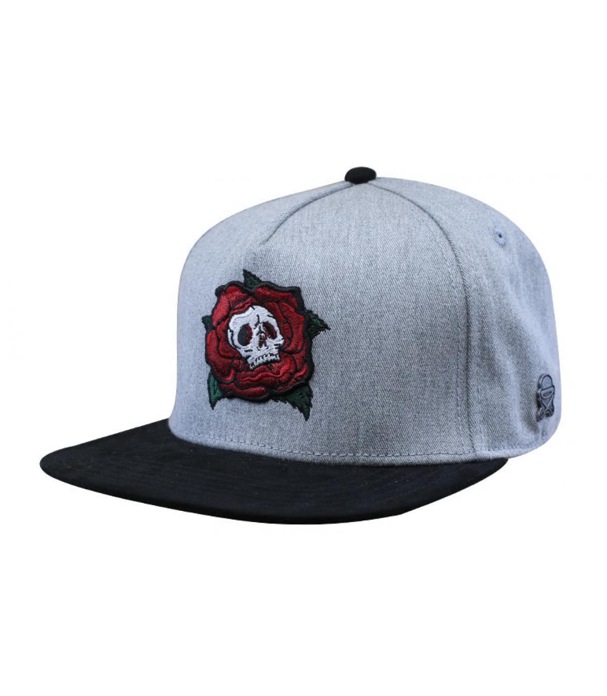 Cap Totenkopf grau
