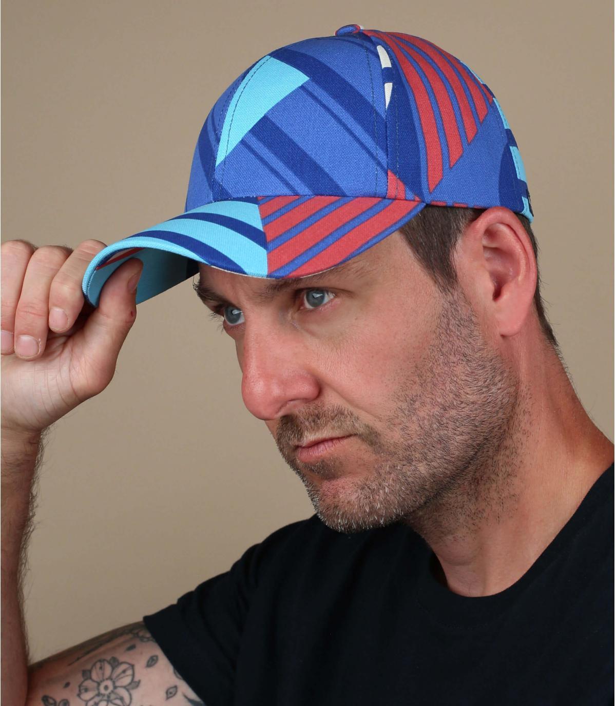 Cap Streifen blau