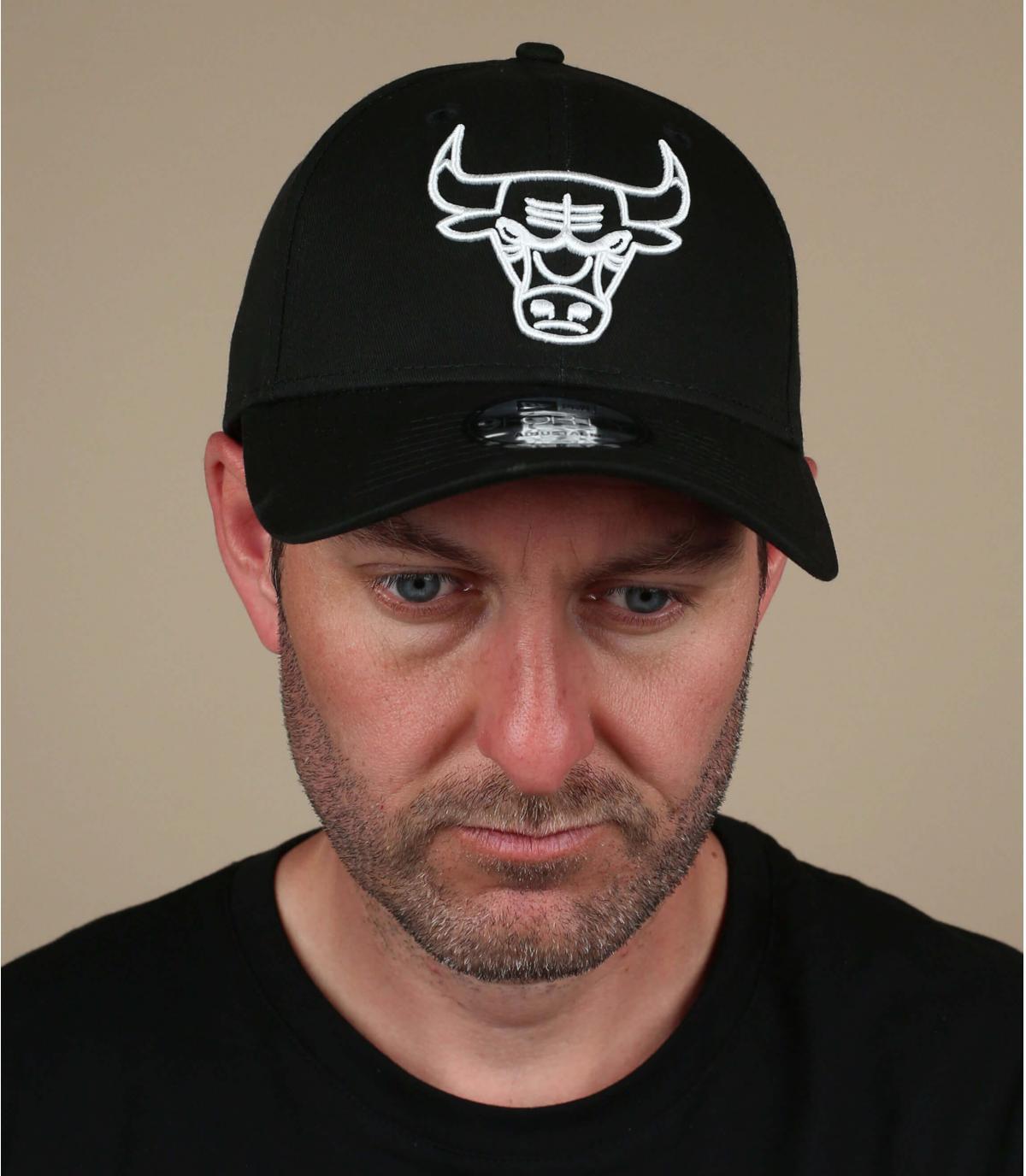 Cap Bulls schwarz weiß
