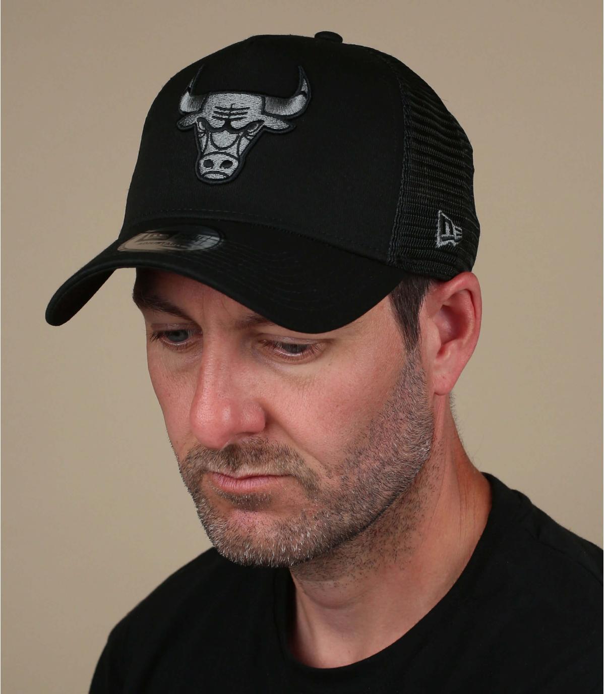 Trucker Cap Bulls schwarz