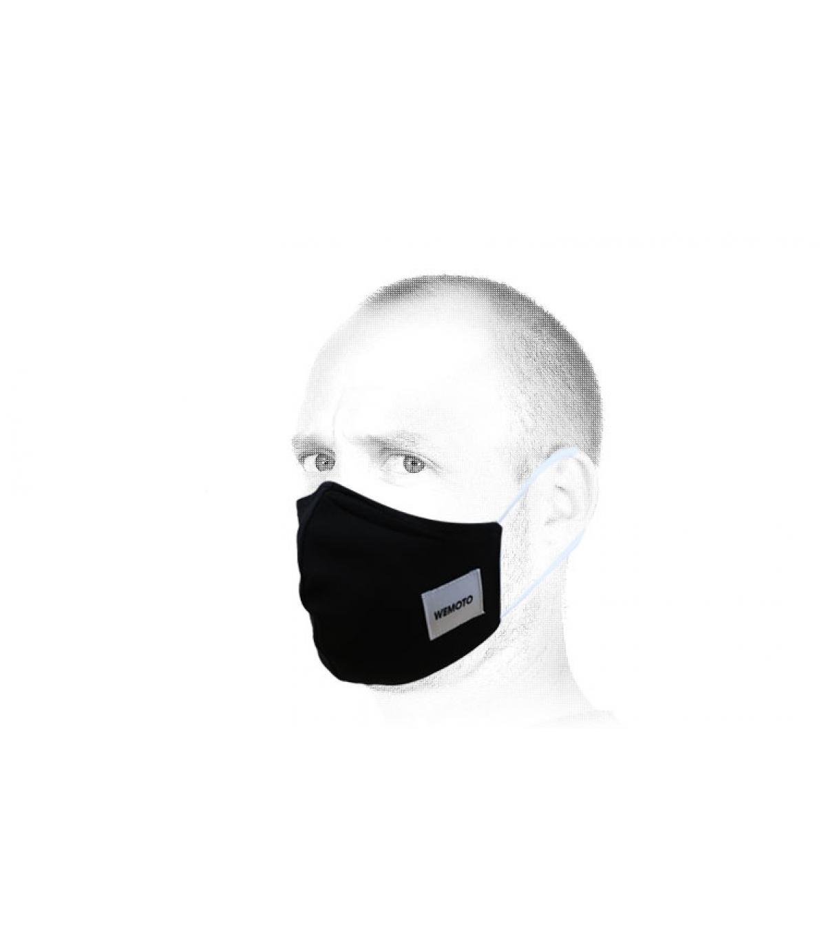 Maske schwarz Wemoto