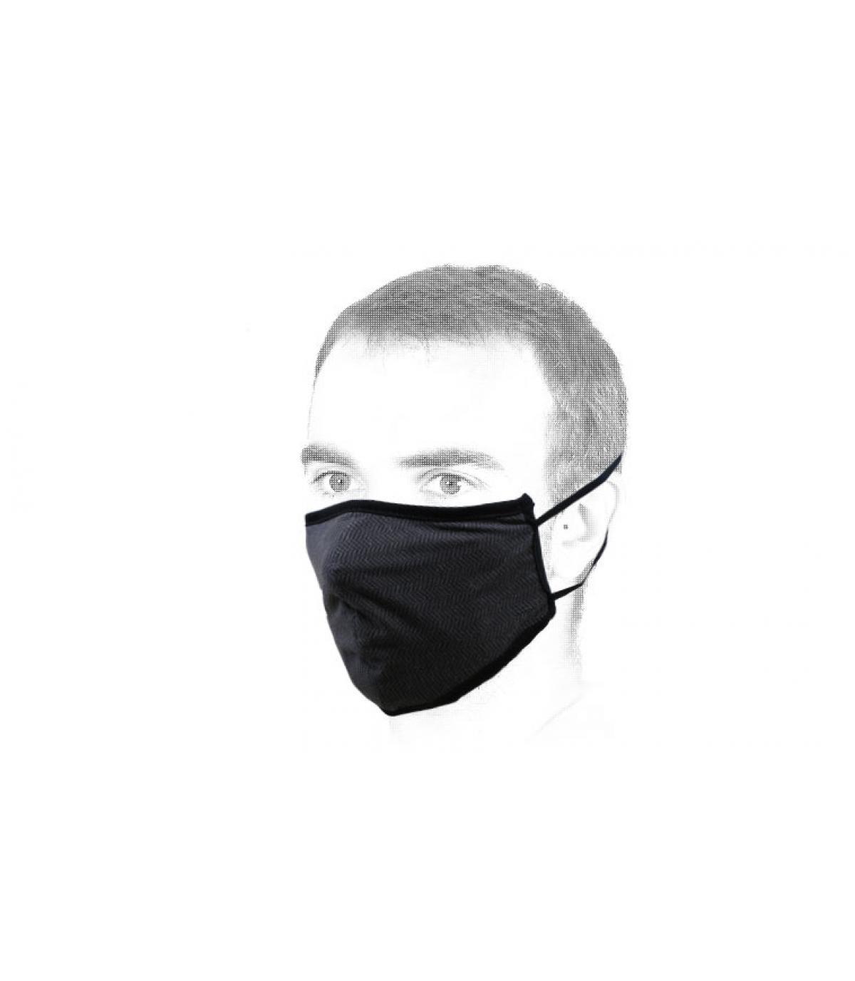 Maske schwarz Brixton