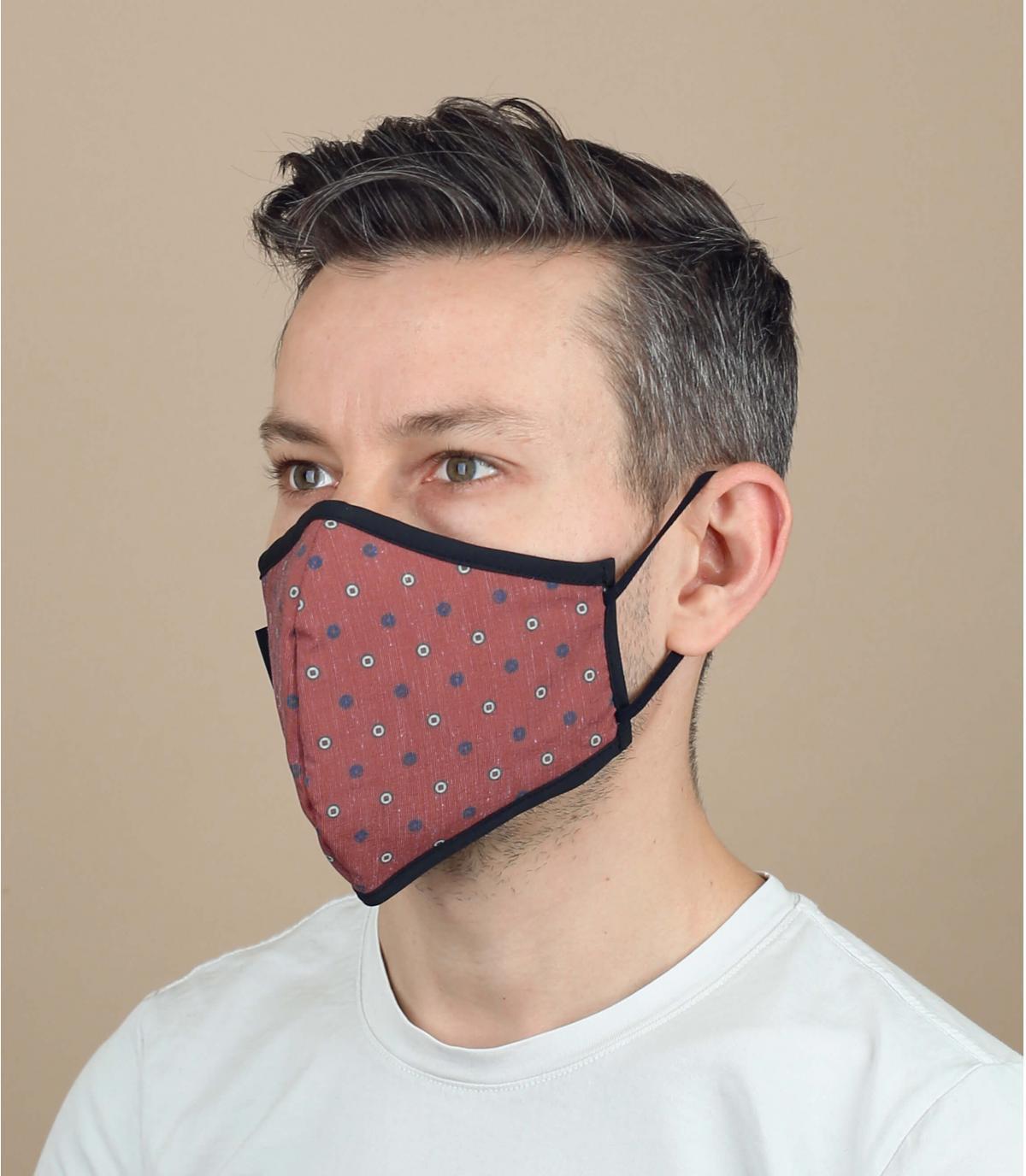 Coranavirus Maske gepunktet