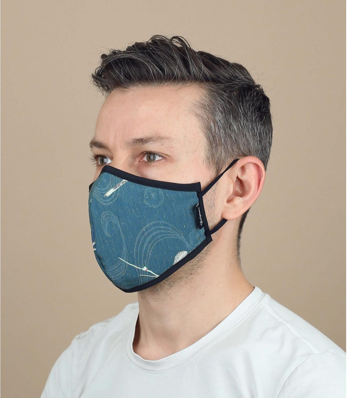 Maske Blumen Coronanavirus