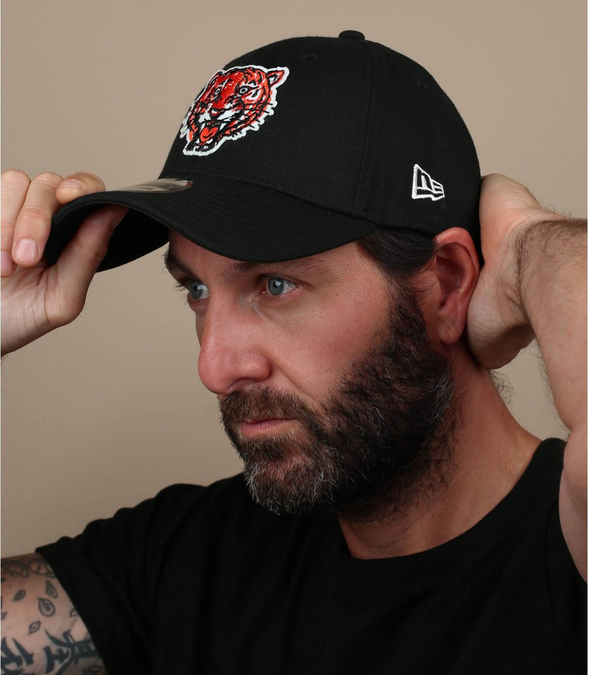detroit tiger schwarze cap