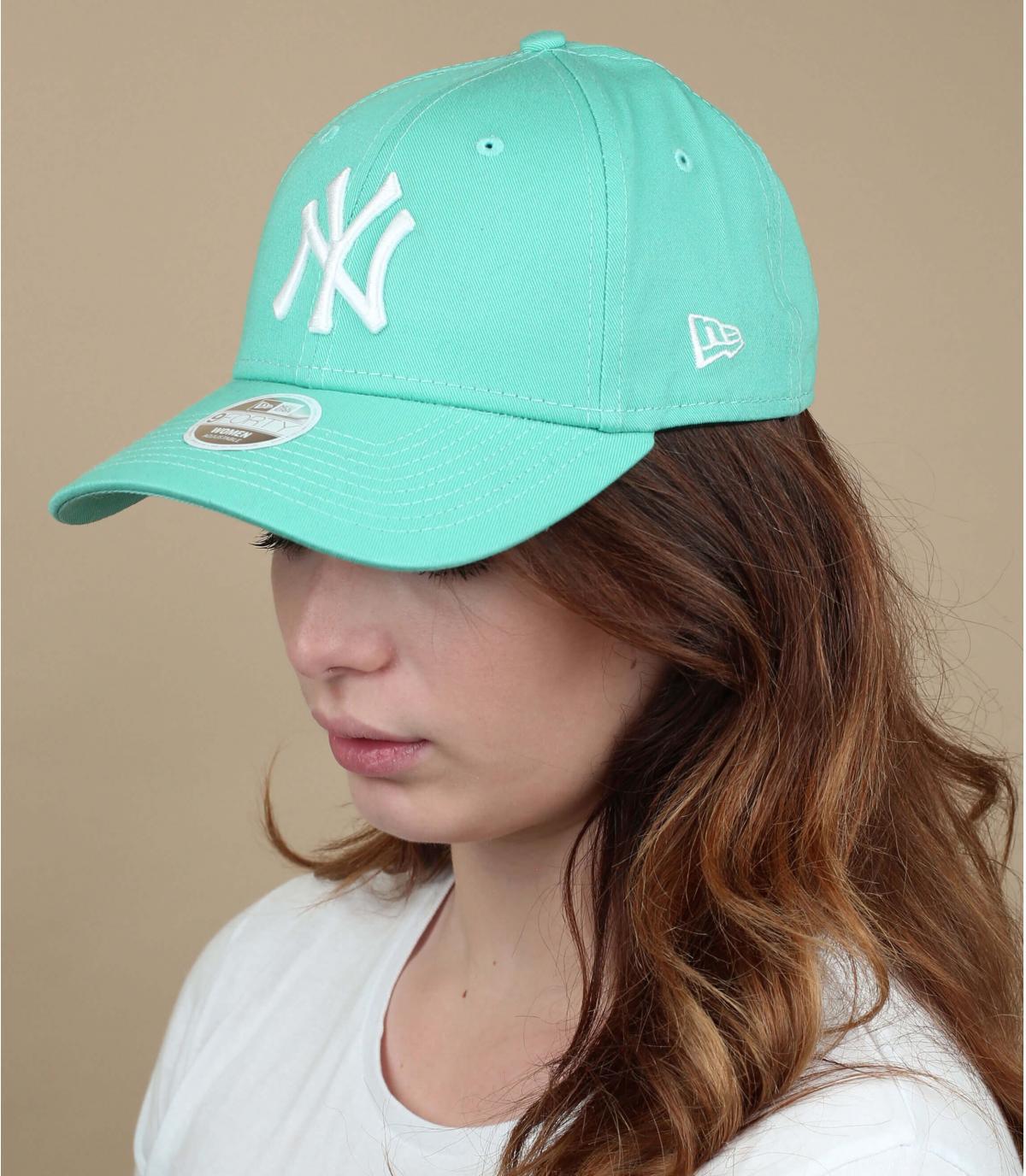 Damen Cap NY grün