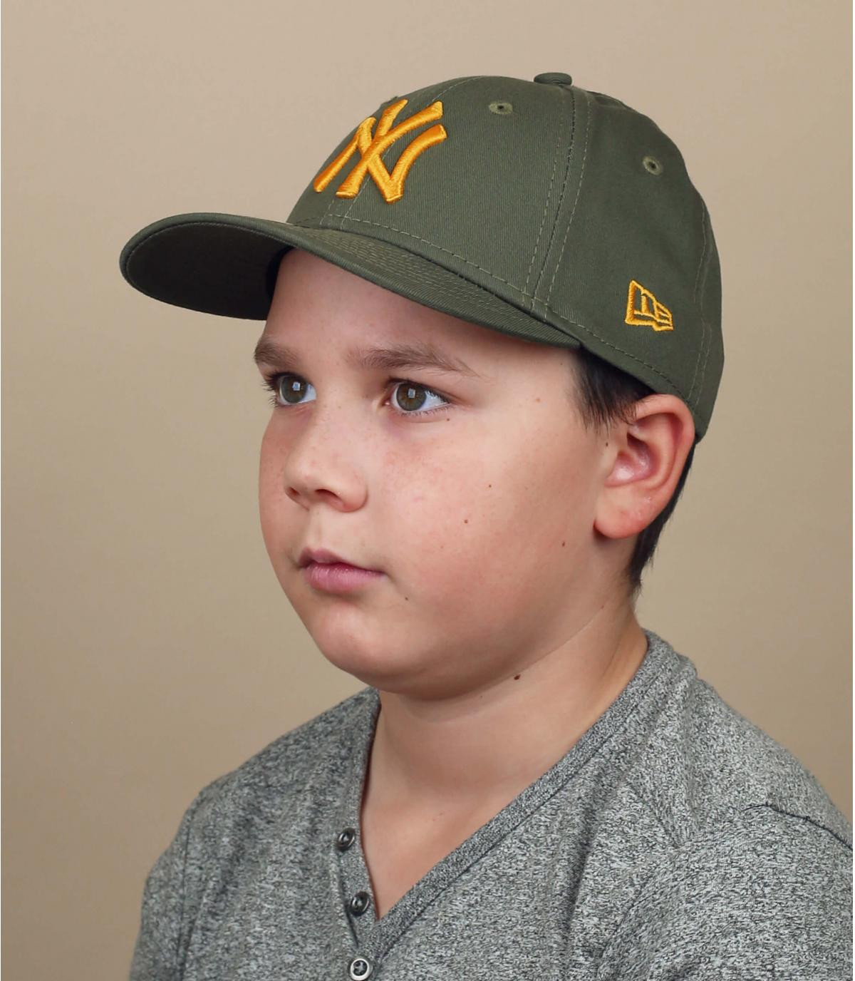 Kinder Trucker Cap NY grün gelb
