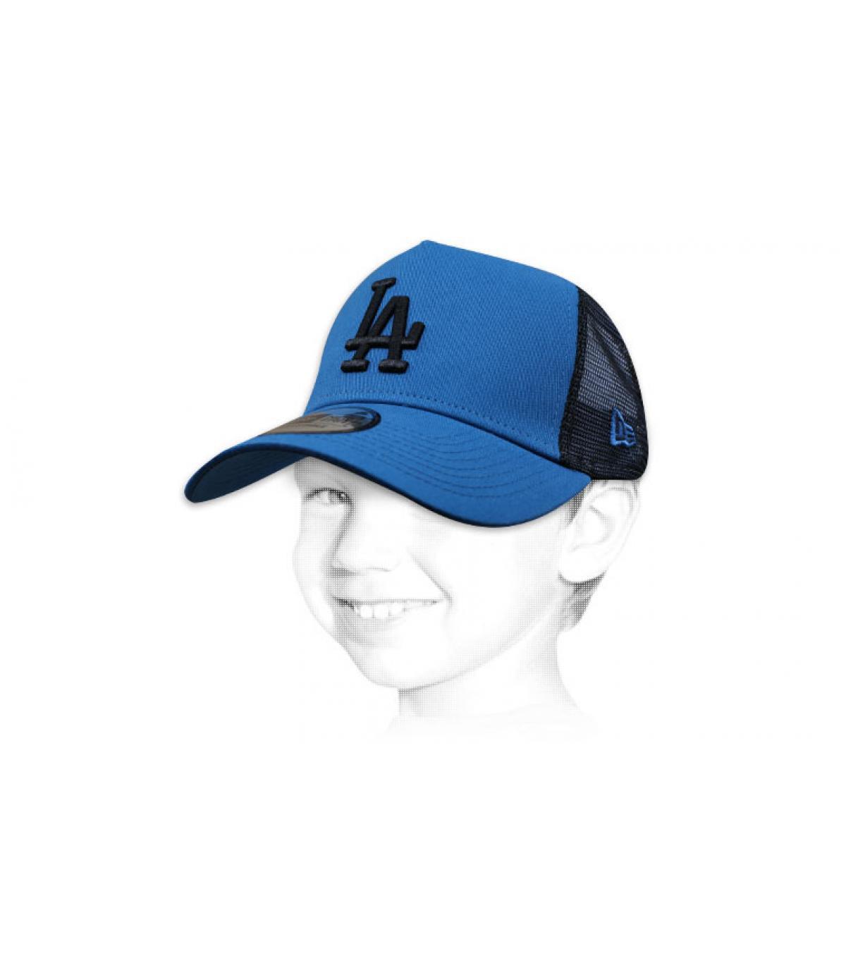 Kinder Trucker Cap blau LA
