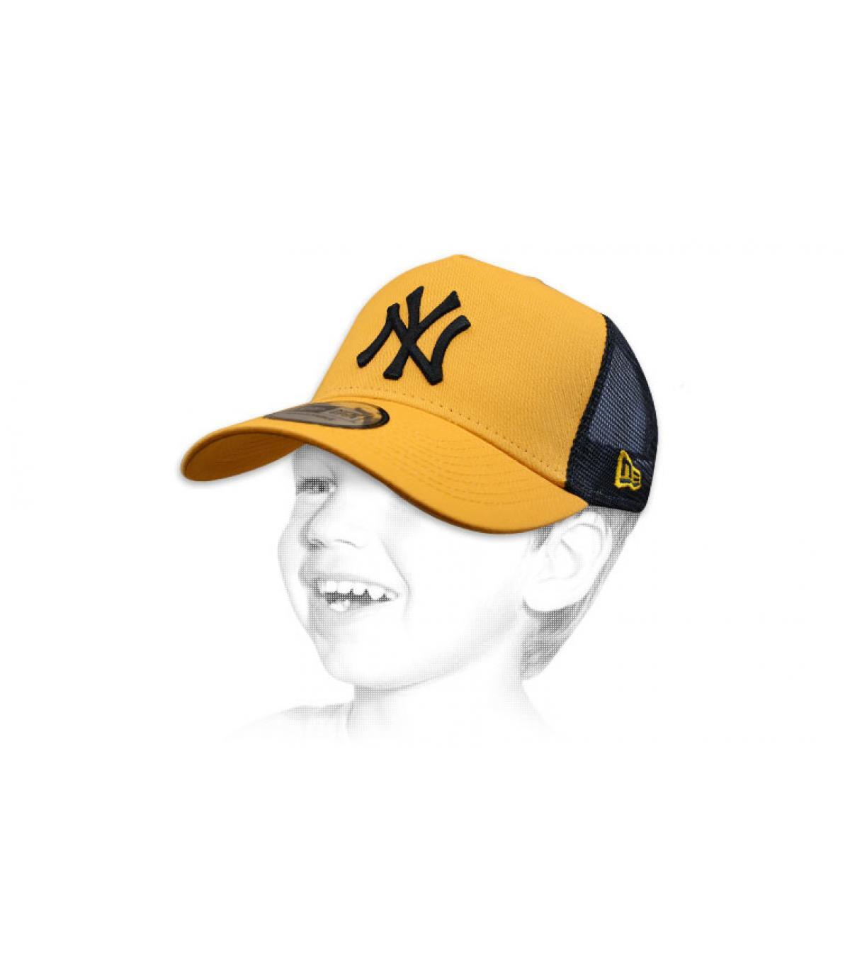Kinder Trucker Cap blau NY