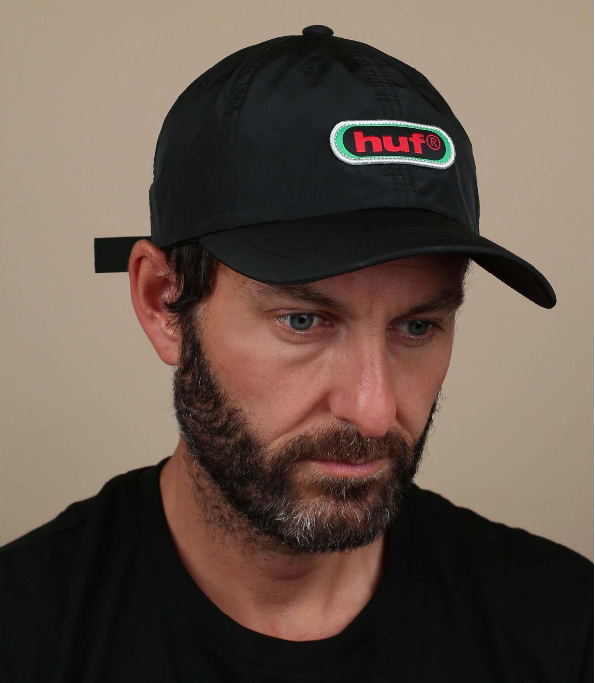 schwarze Cap Huf Retro