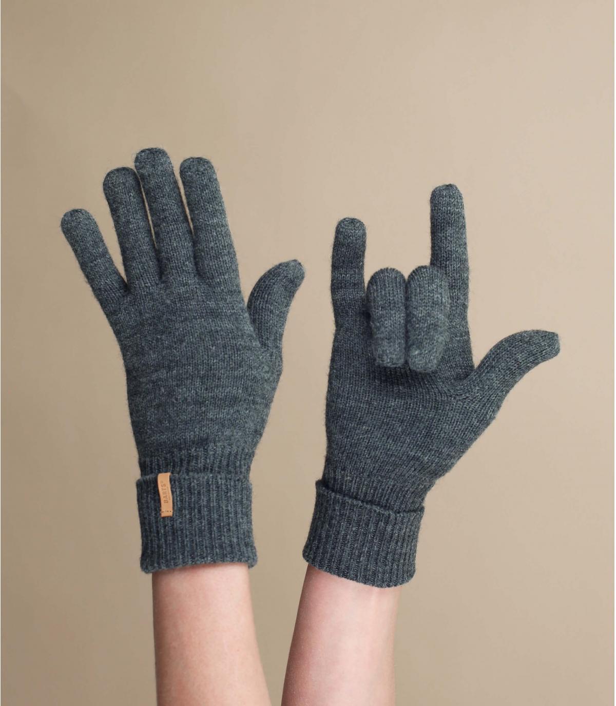 Graue Damen Handschuhe
