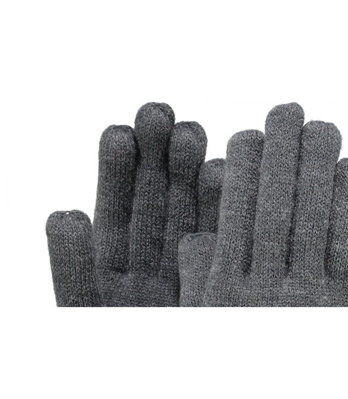 Details Feine gestrickte Handschuhe dunkelgrau - Abbildung 2