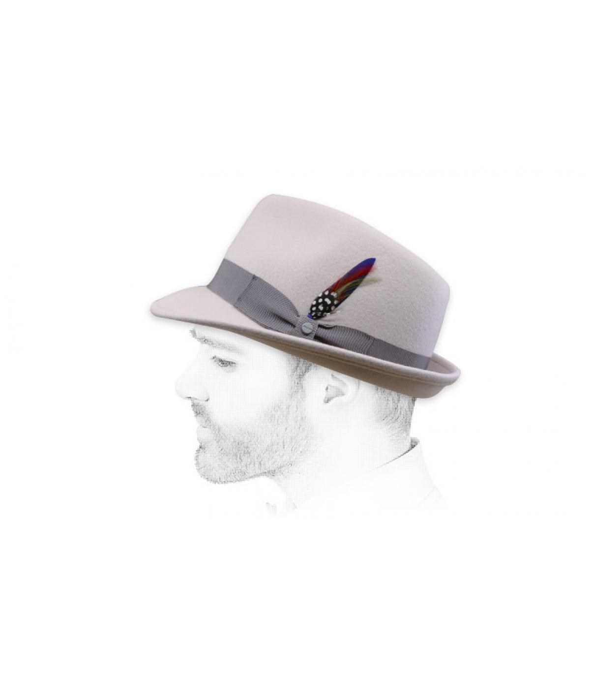 Trilby Hut beige Filz Stetson