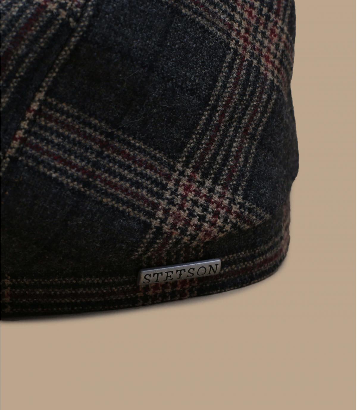 Details 6-Panel Cap Wool Check grey brown - Abbildung 2