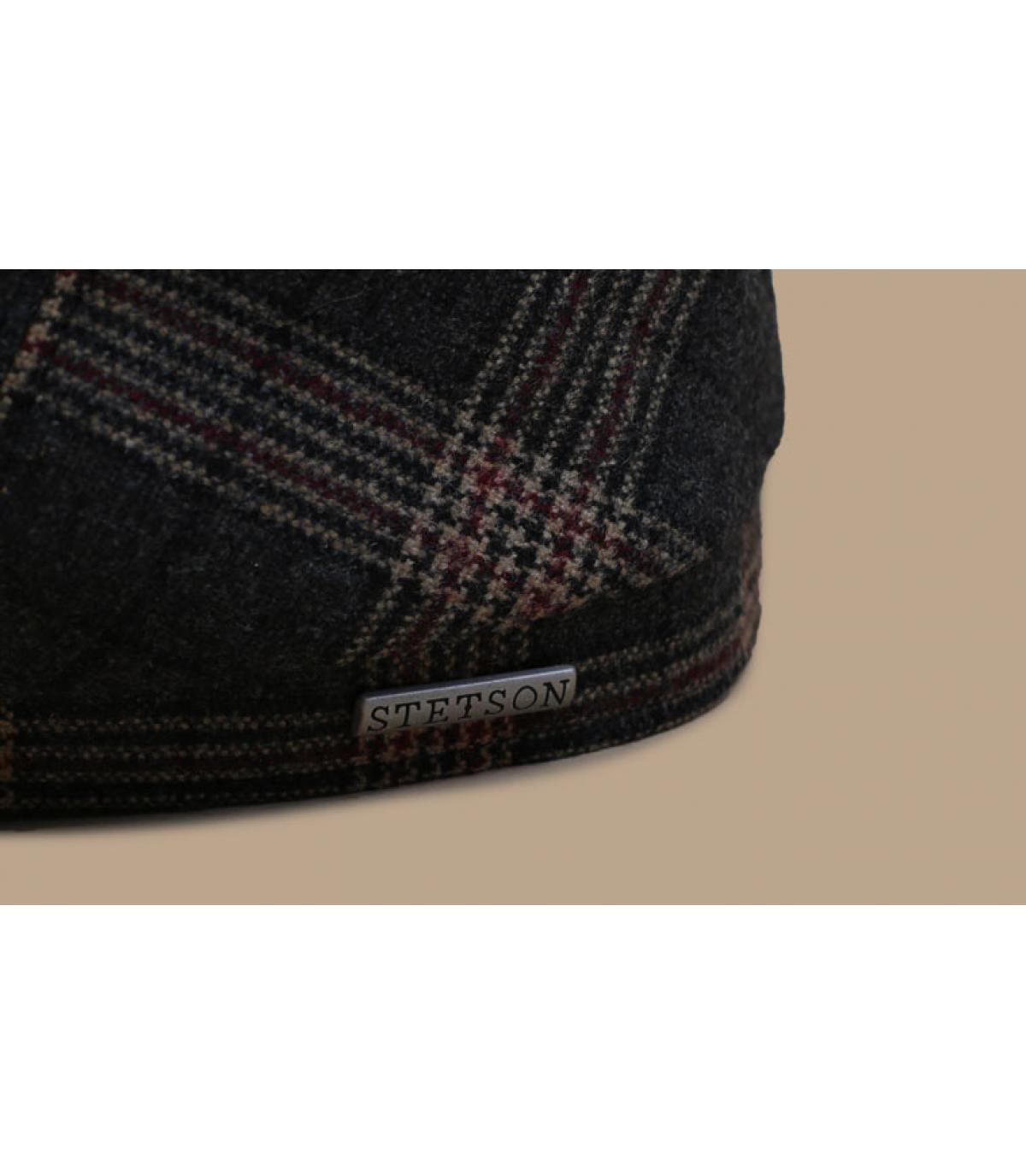 Details 6-Panel Cap Wool Check grey brown - Abbildung 3