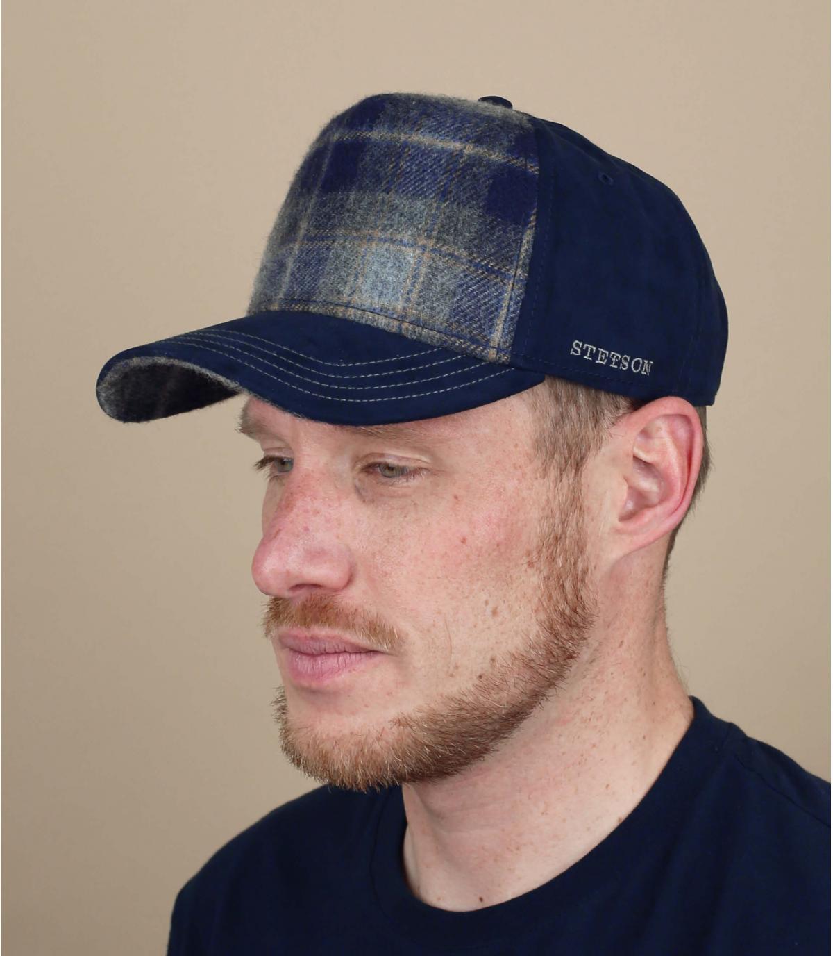 Trucker Cap Wolle blau