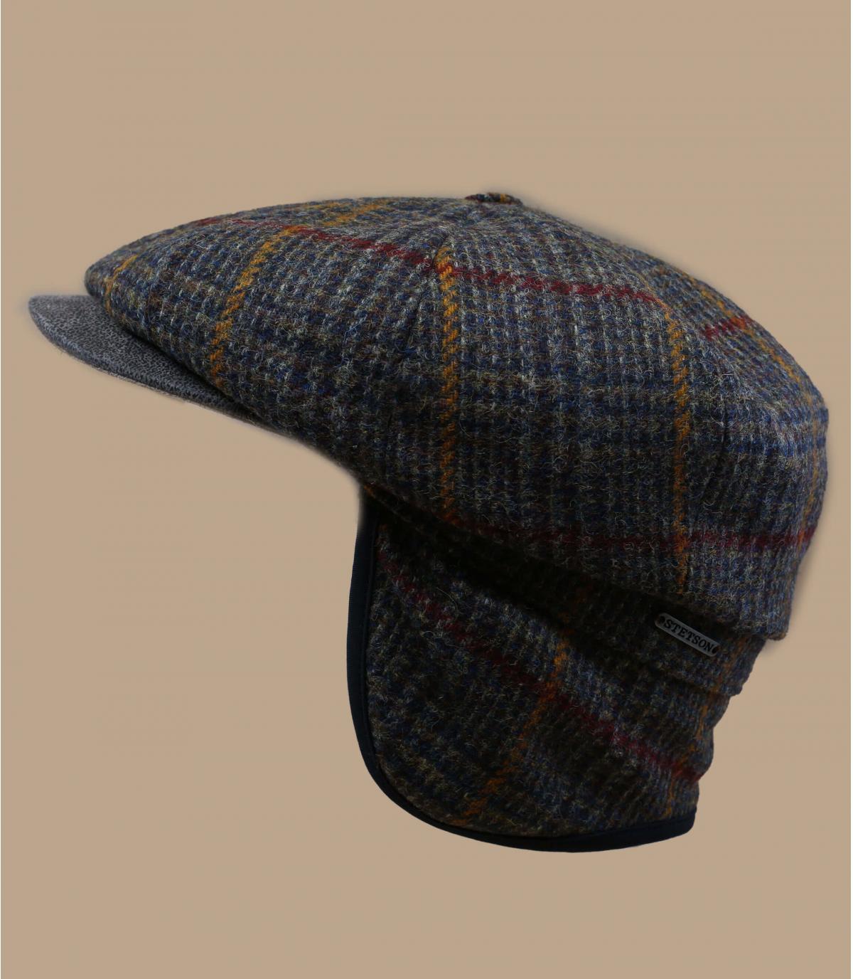 Details Hatteras EF Wool olive brown check - Abbildung 2