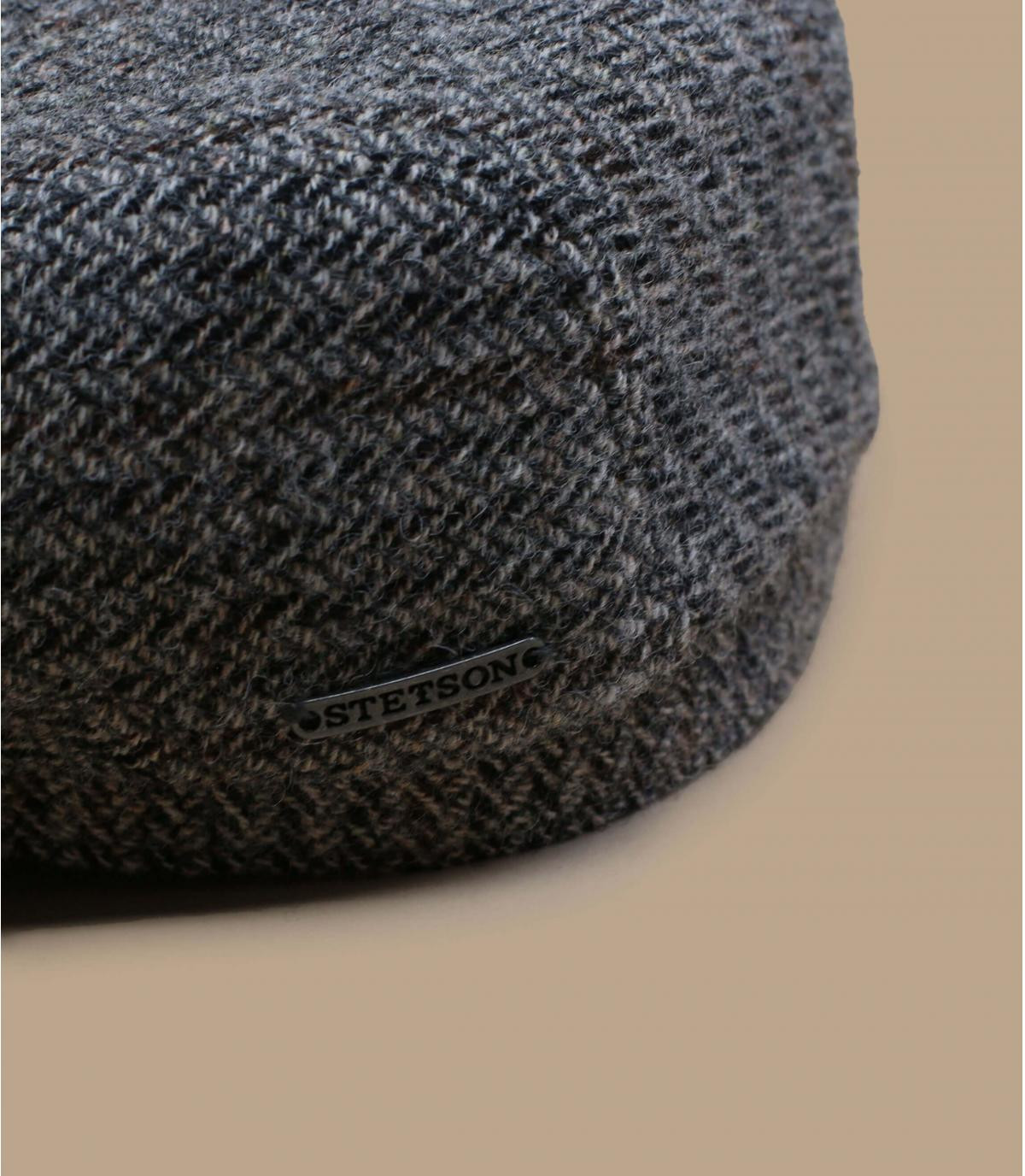 Details Driver Cap Virgin Wool Herringbone grey - Abbildung 2