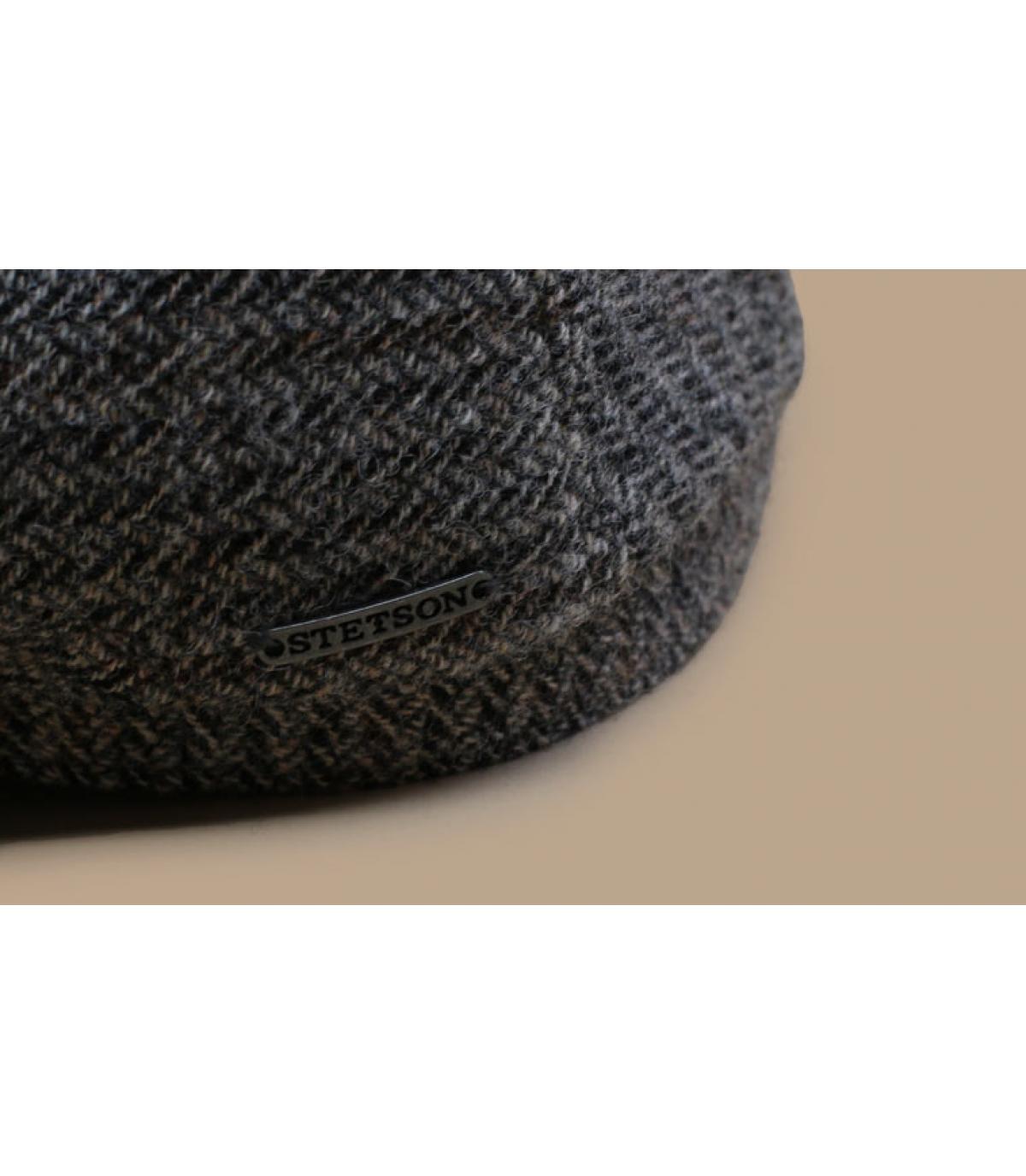 Details Driver Cap Virgin Wool Herringbone grey - Abbildung 3