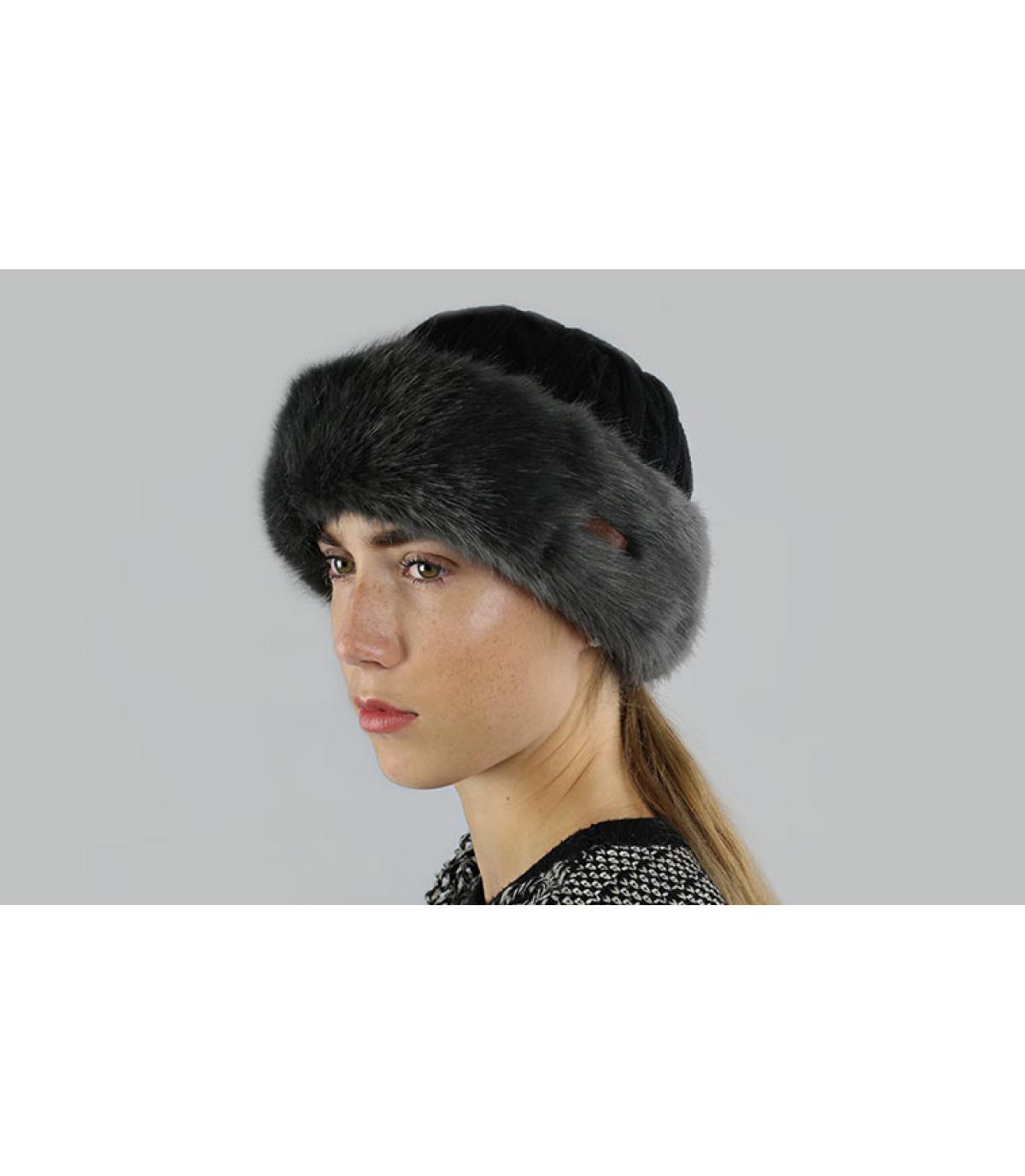 Grauer Barts Hut mit Hutband